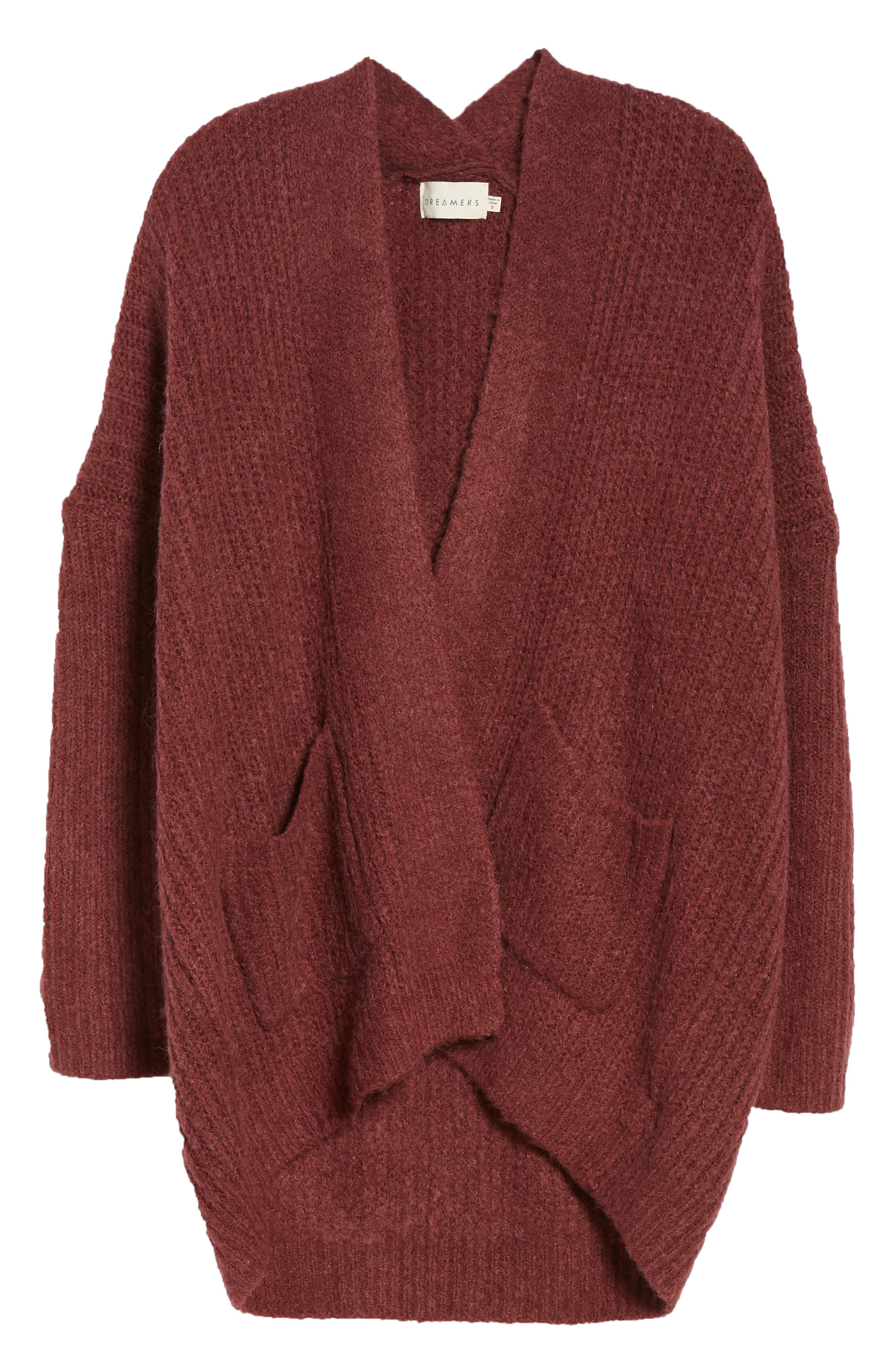 Rib Knit Open Cardigan,                             Alternate thumbnail 6, color,                             650
