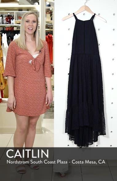 Halter Neck Lace Midi Dress, sales video thumbnail