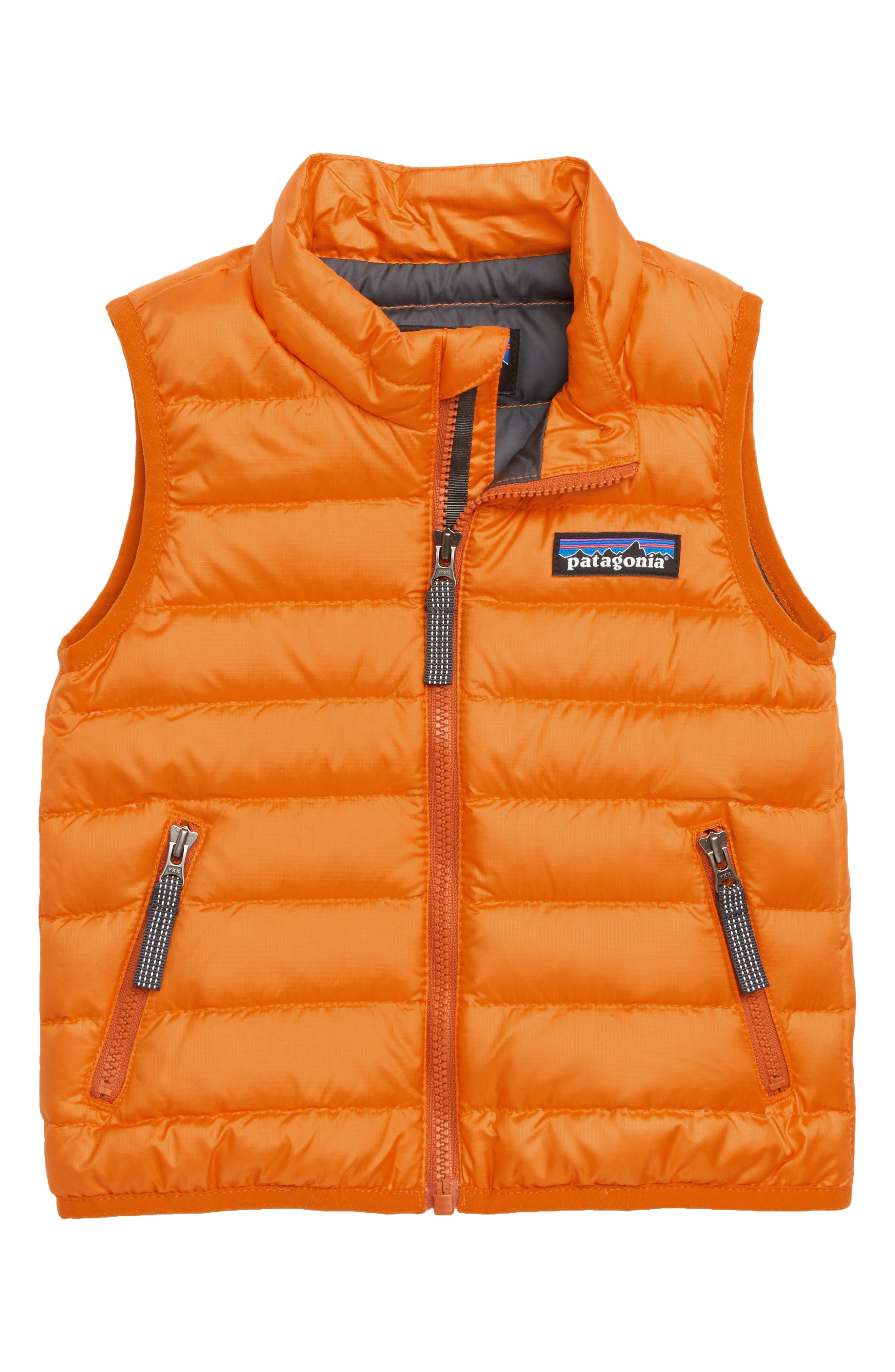 Windproof & Water Resistant Down Sweater Vest,                         Main,                         color, MARG MARIGOLD