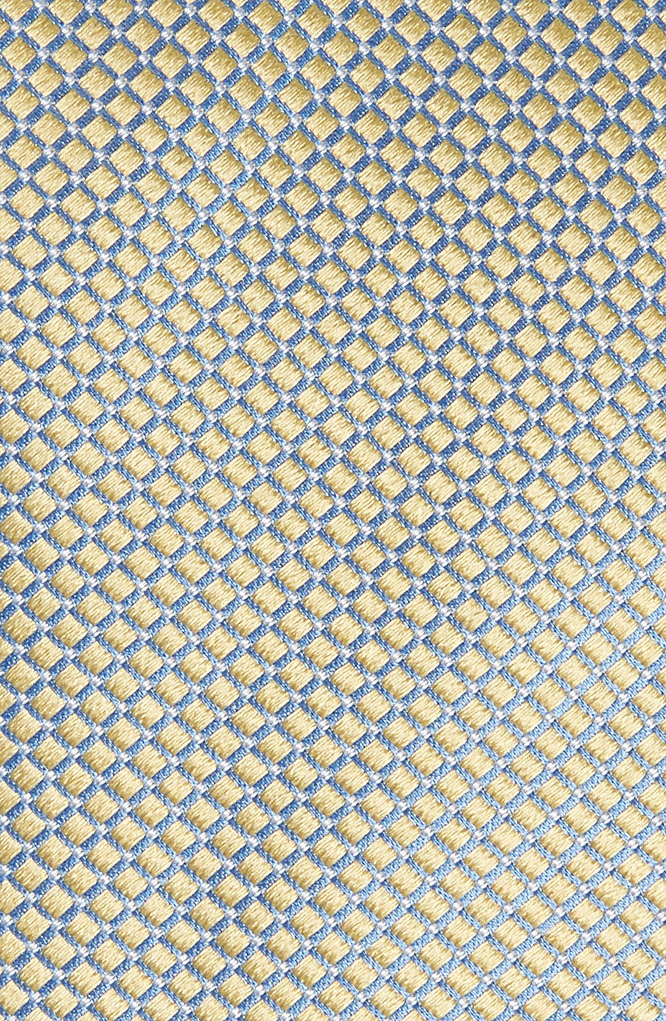 Geometric Silk Tie,                             Alternate thumbnail 2, color,                             YELLOW