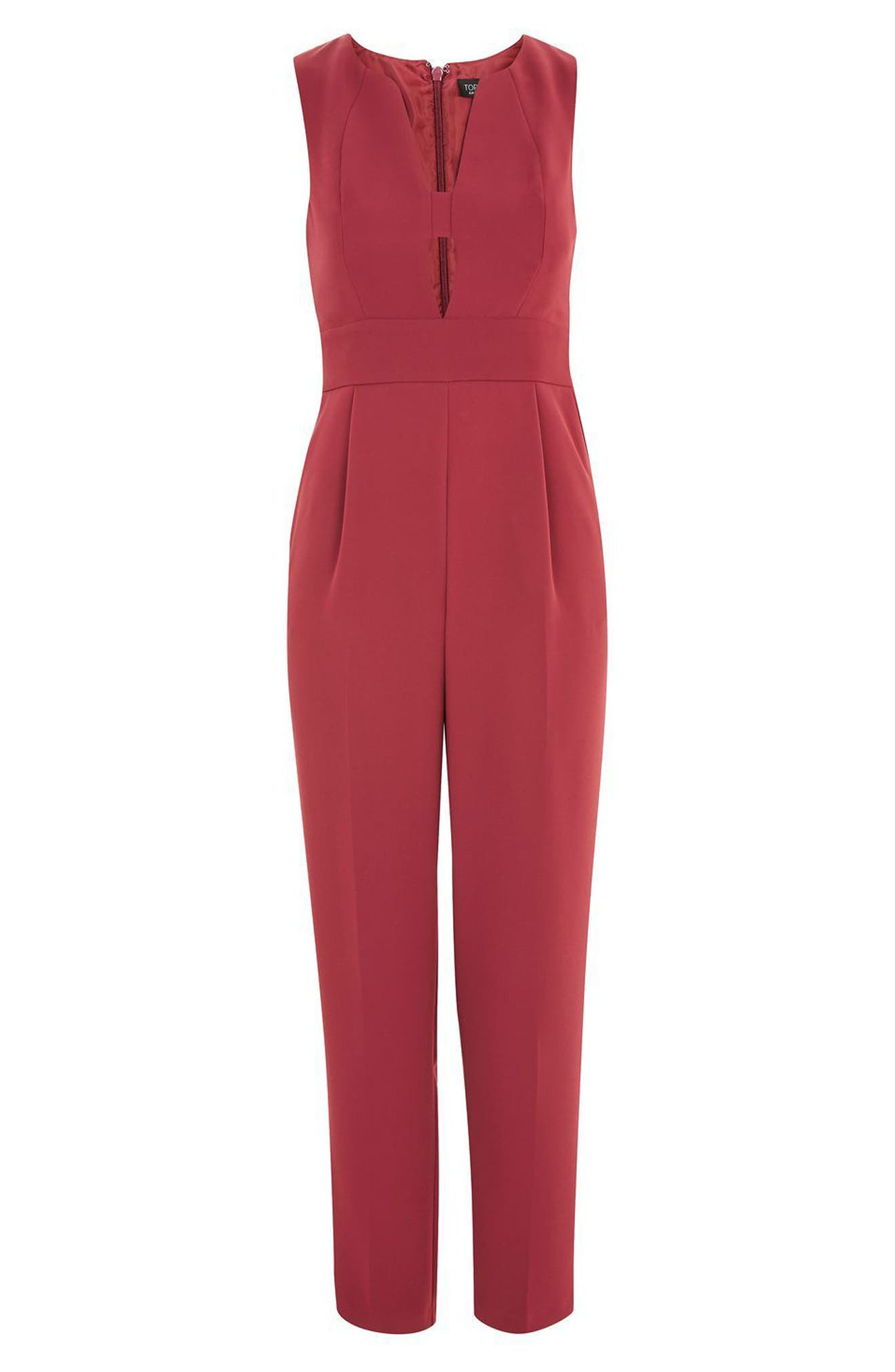 Amber Open Front Jumpsuit,                             Alternate thumbnail 4, color,
