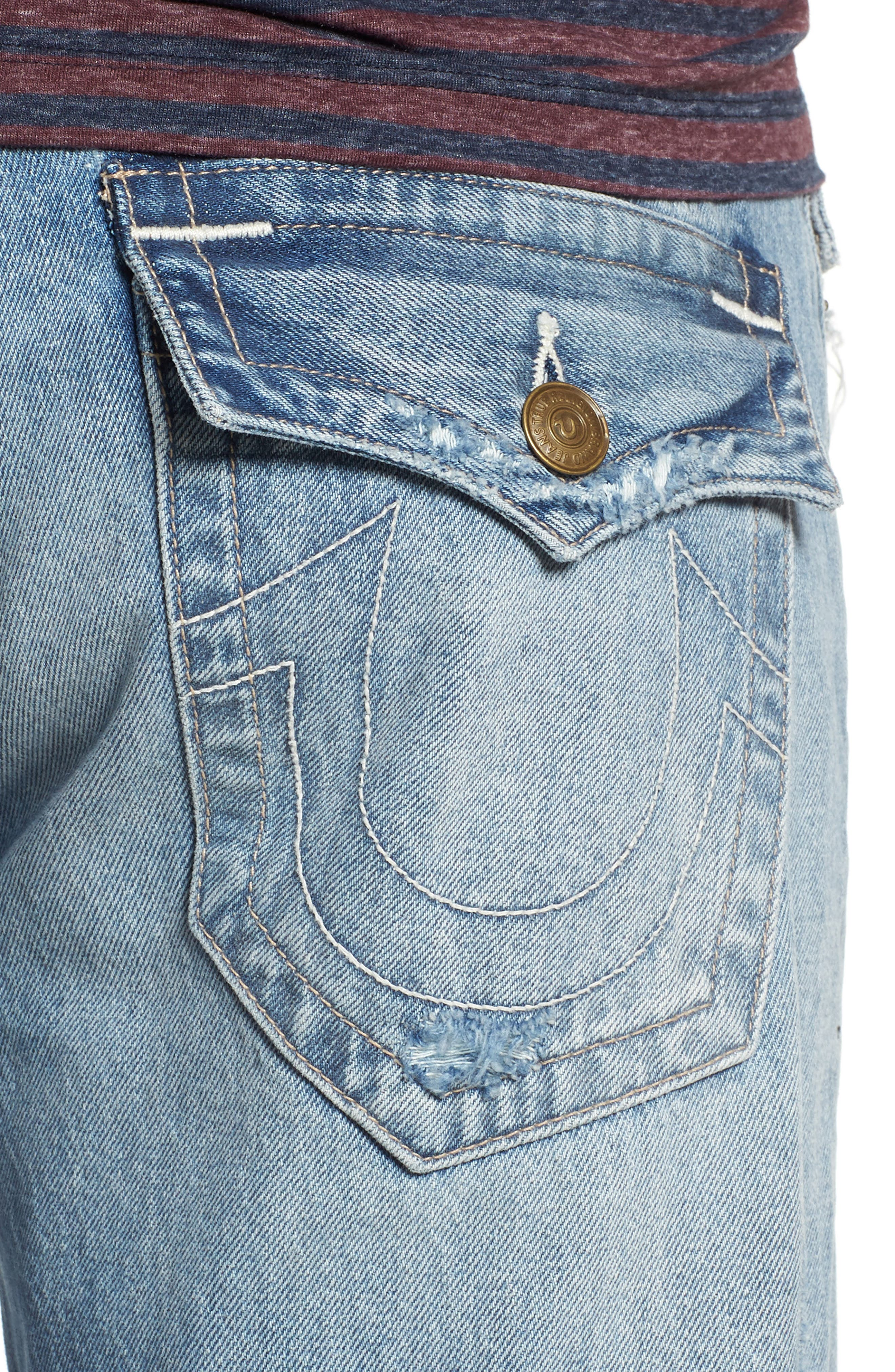 TRUE RELIGION BRAND JEANS,                             Geno Straight Leg Jeans,                             Alternate thumbnail 4, color,                             EQNM DELINGUENT
