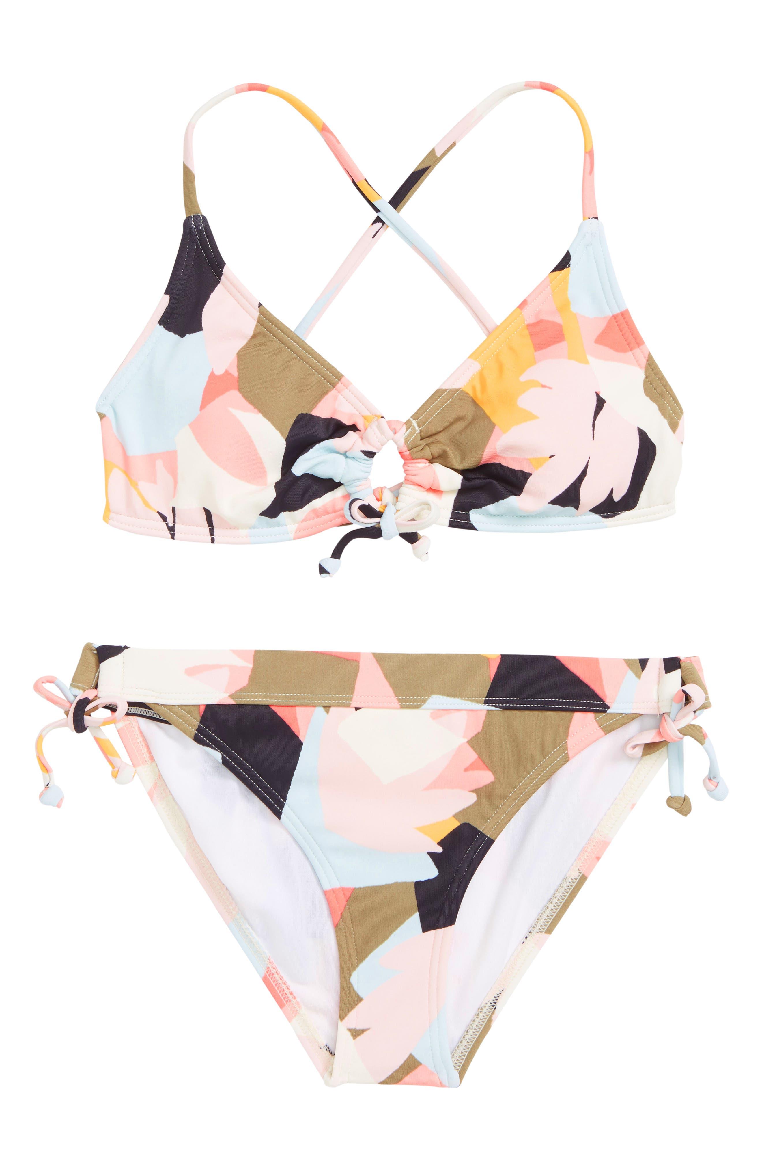 Shaka Daze Keyhole Two-Piece Swimsuit,                         Main,                         color, 100