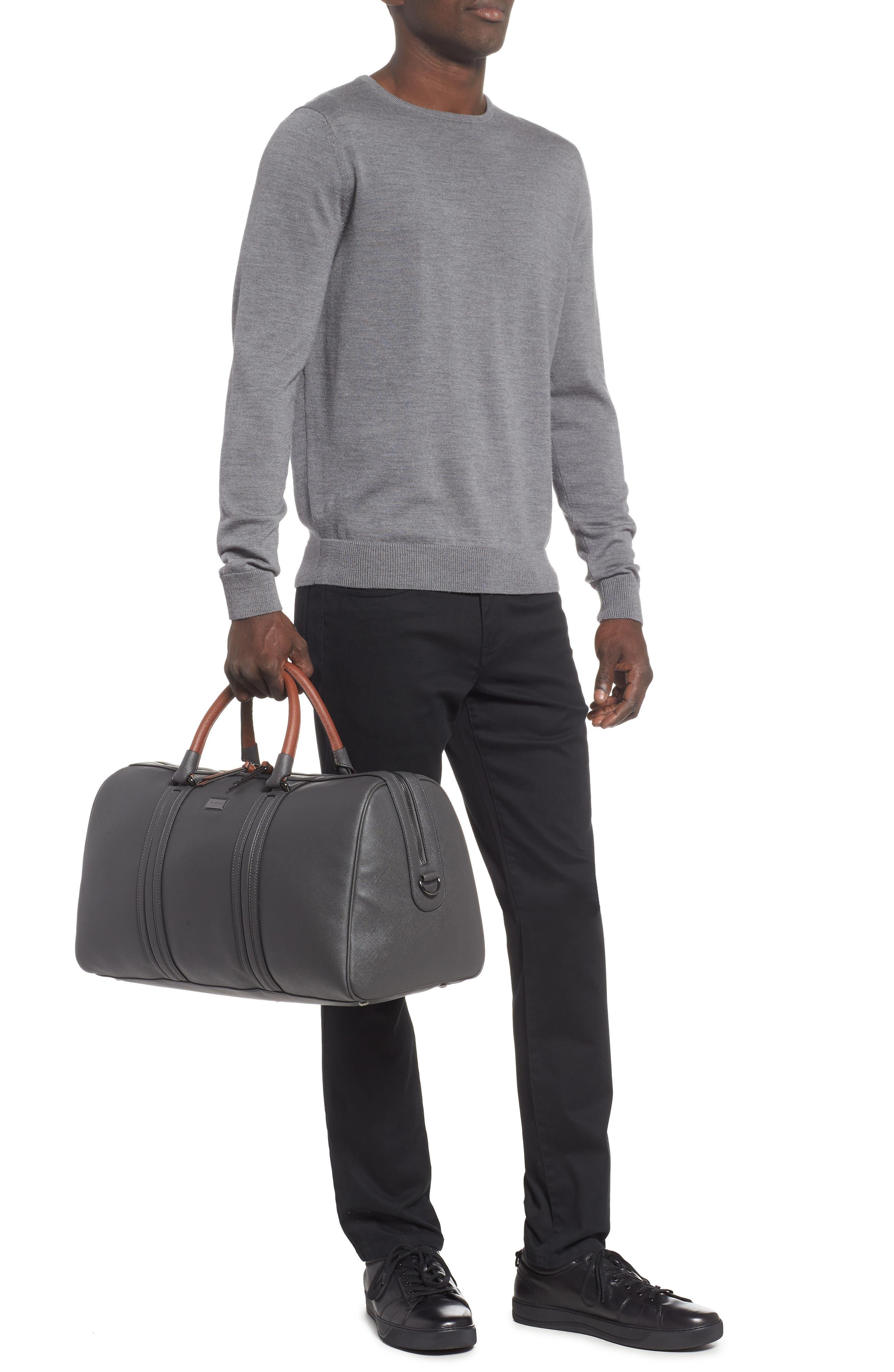 Grankan Faux Leather Duffel Bag,                             Alternate thumbnail 2, color,                             CHARCOAL