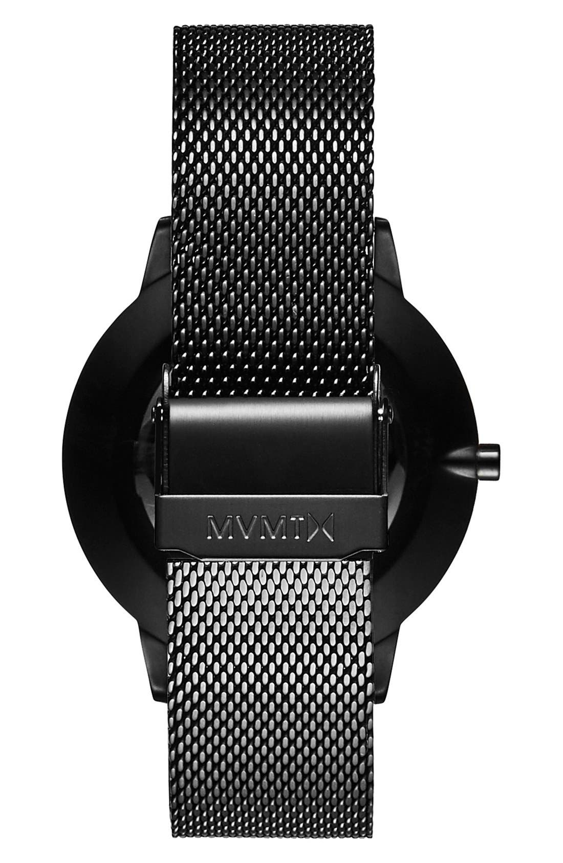 Boulevard Mesh Strap Watch, 38mm,                             Alternate thumbnail 3, color,                             BLACK