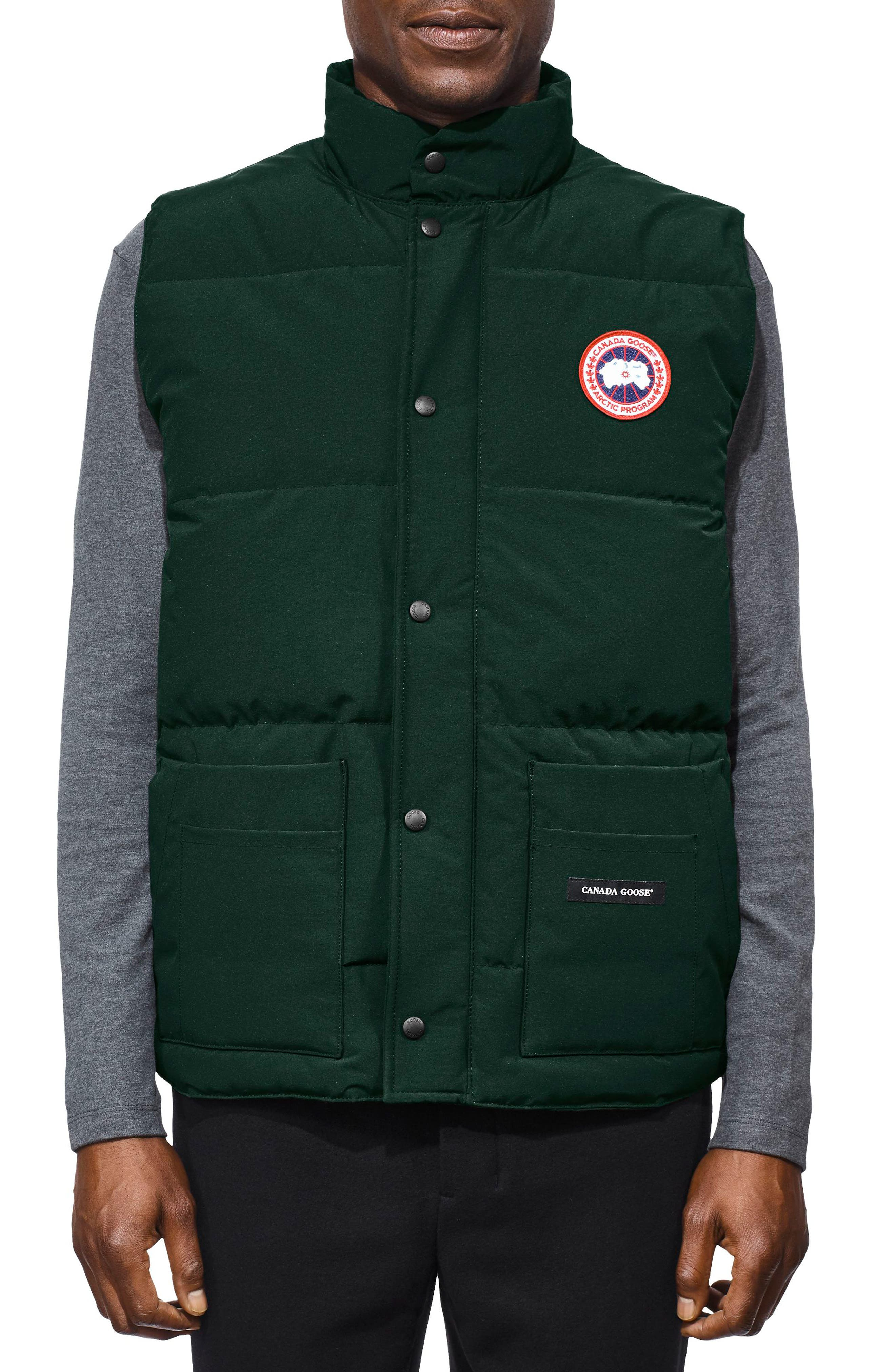Freestyle Regular Fit Down Vest,                             Main thumbnail 1, color,                             SPRUCE