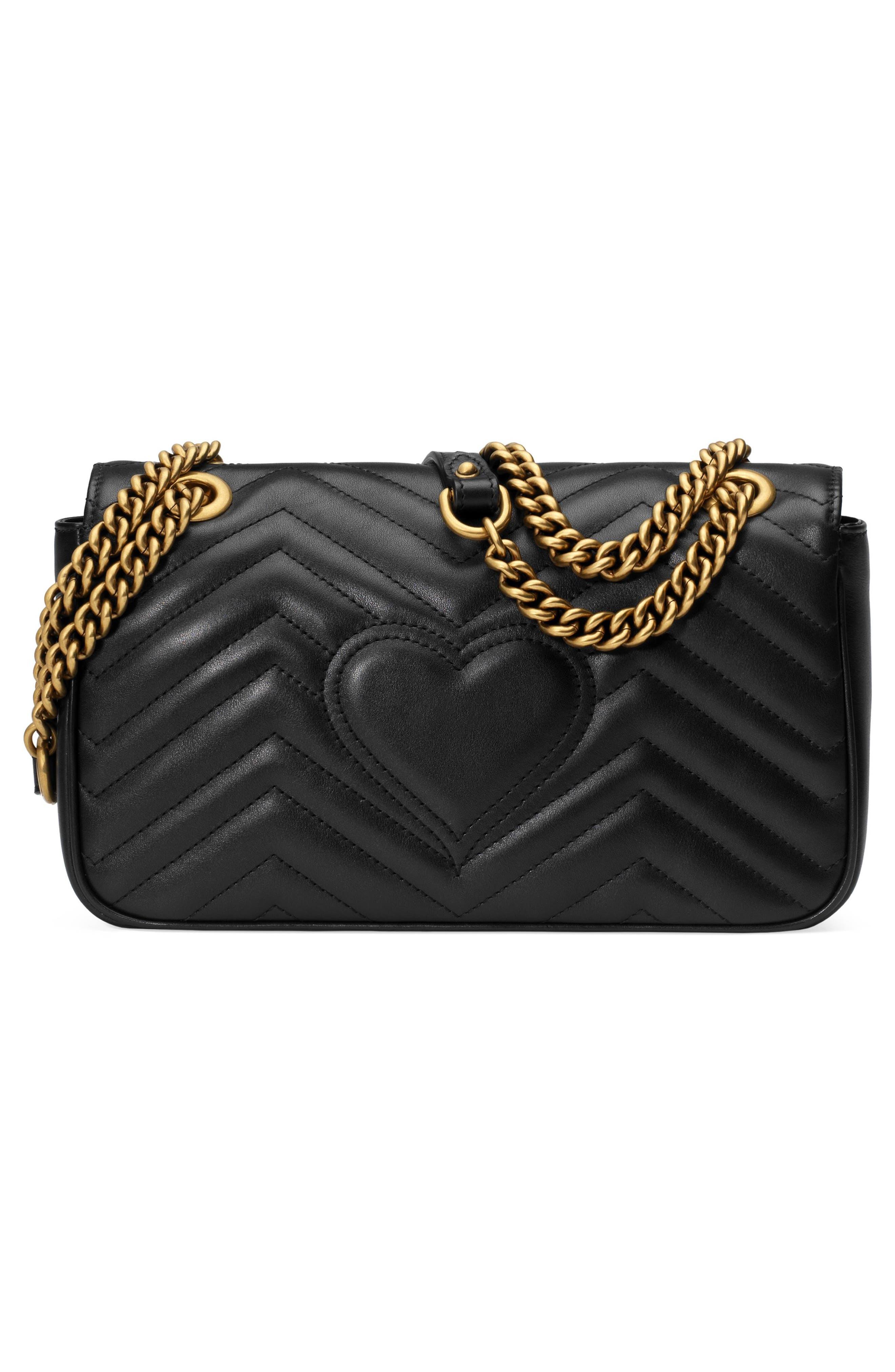 Small GG Marmont 2.0 Matelassé Leather Shoulder Bag,                             Alternate thumbnail 6, color,