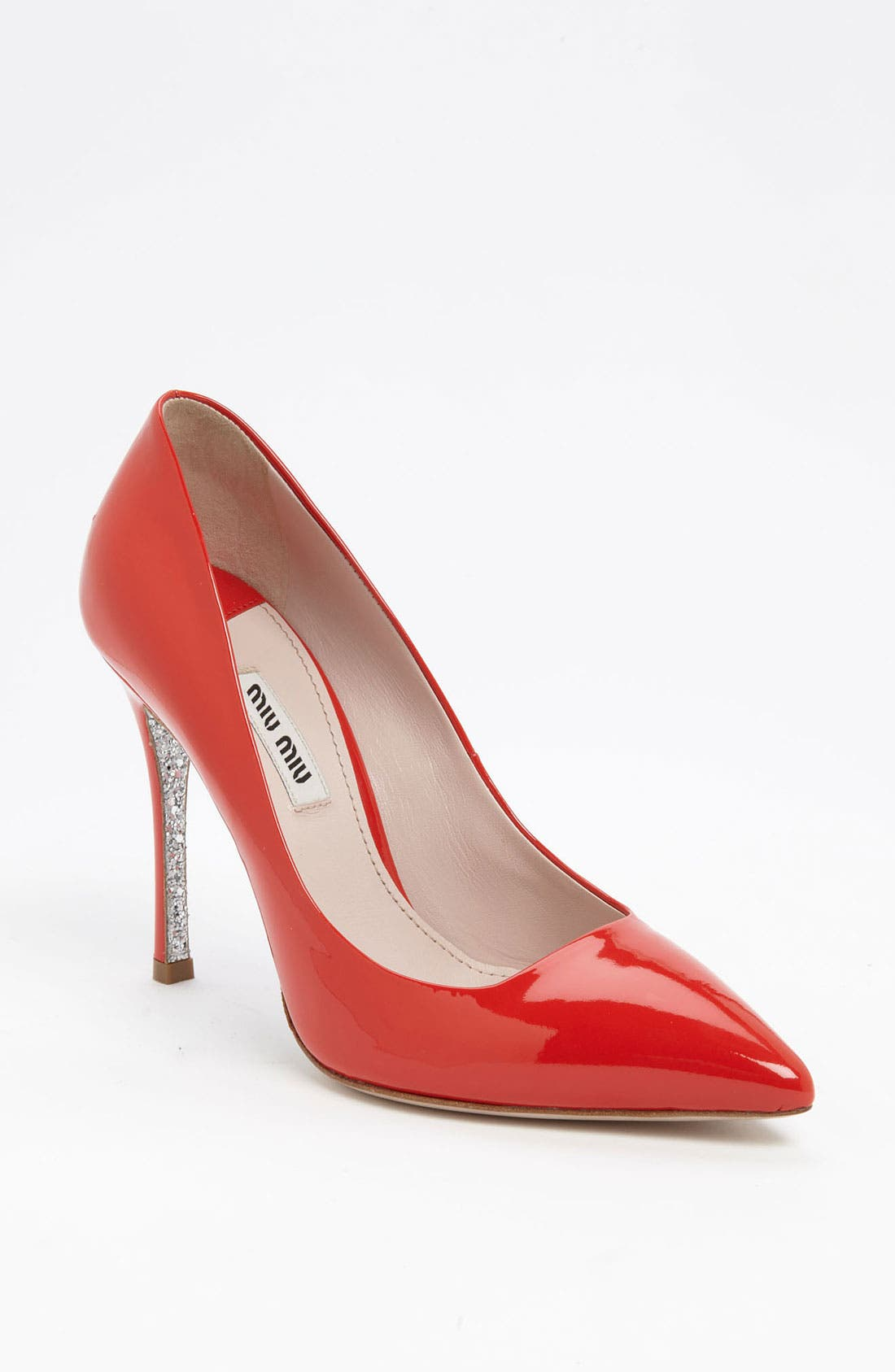 Glitter Sole Pointy Toe Pump,                             Main thumbnail 2, color,