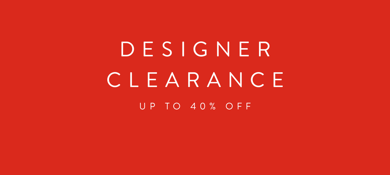 Designer Clearance Sale. Up to 40% off men's designer collections.
