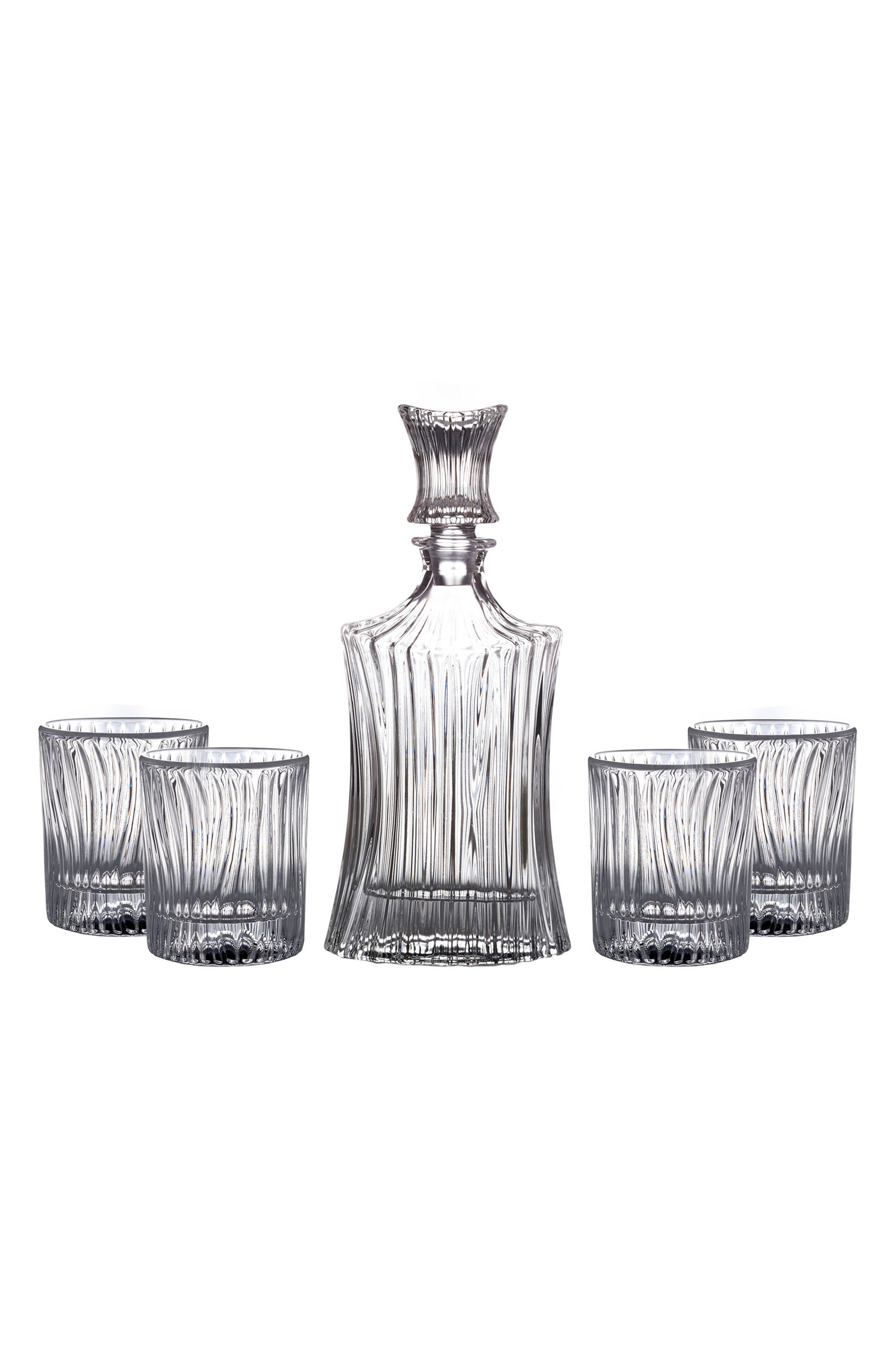 Augusta 5-Piece Decanter & Whiskey Glasses Set,                         Main,                         color, 100