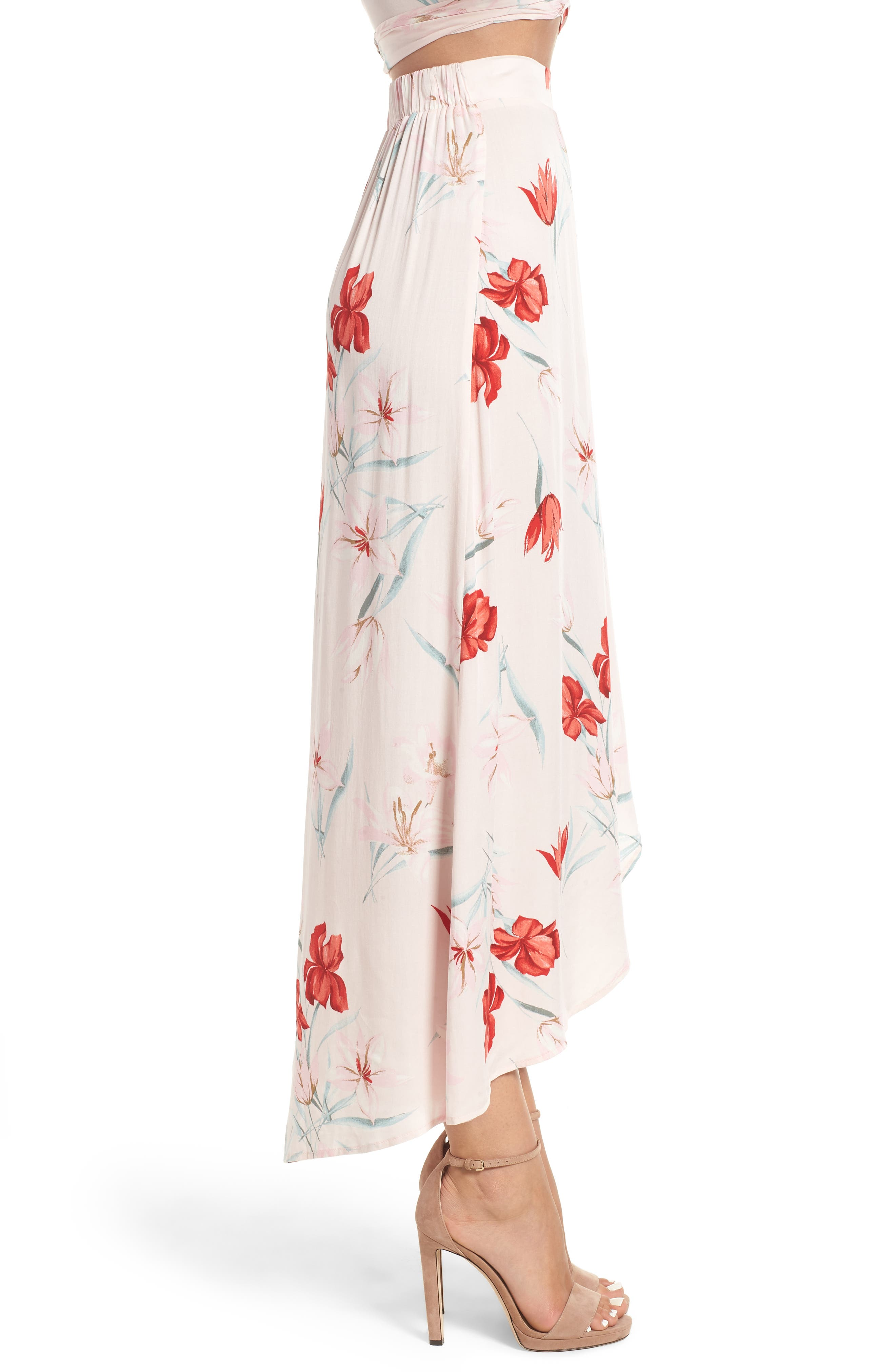 LEITH,                             Wrap Maxi Skirt,                             Alternate thumbnail 3, color,                             650