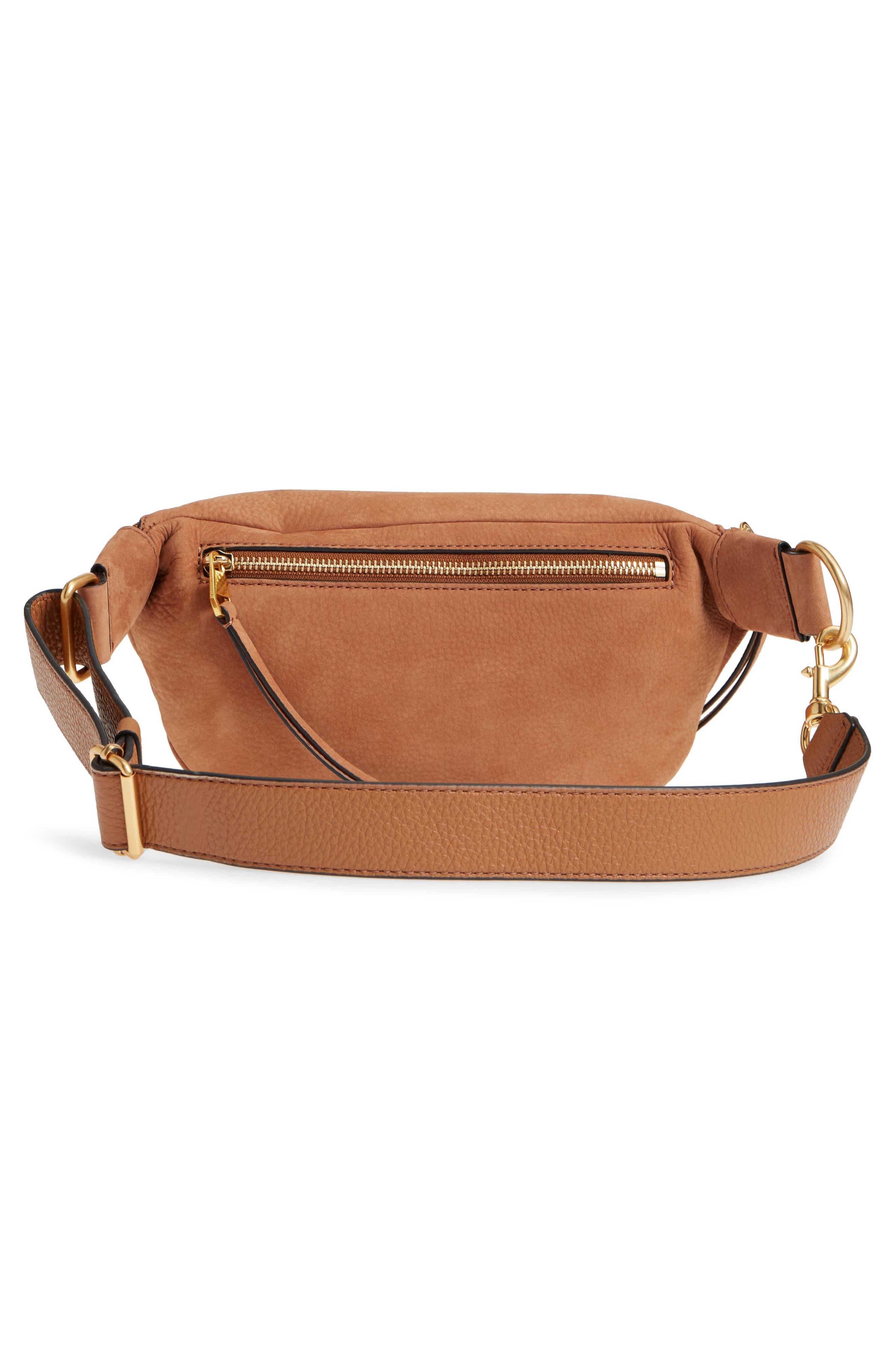 Bree Leather Belt Bag,                             Alternate thumbnail 3, color,                             230