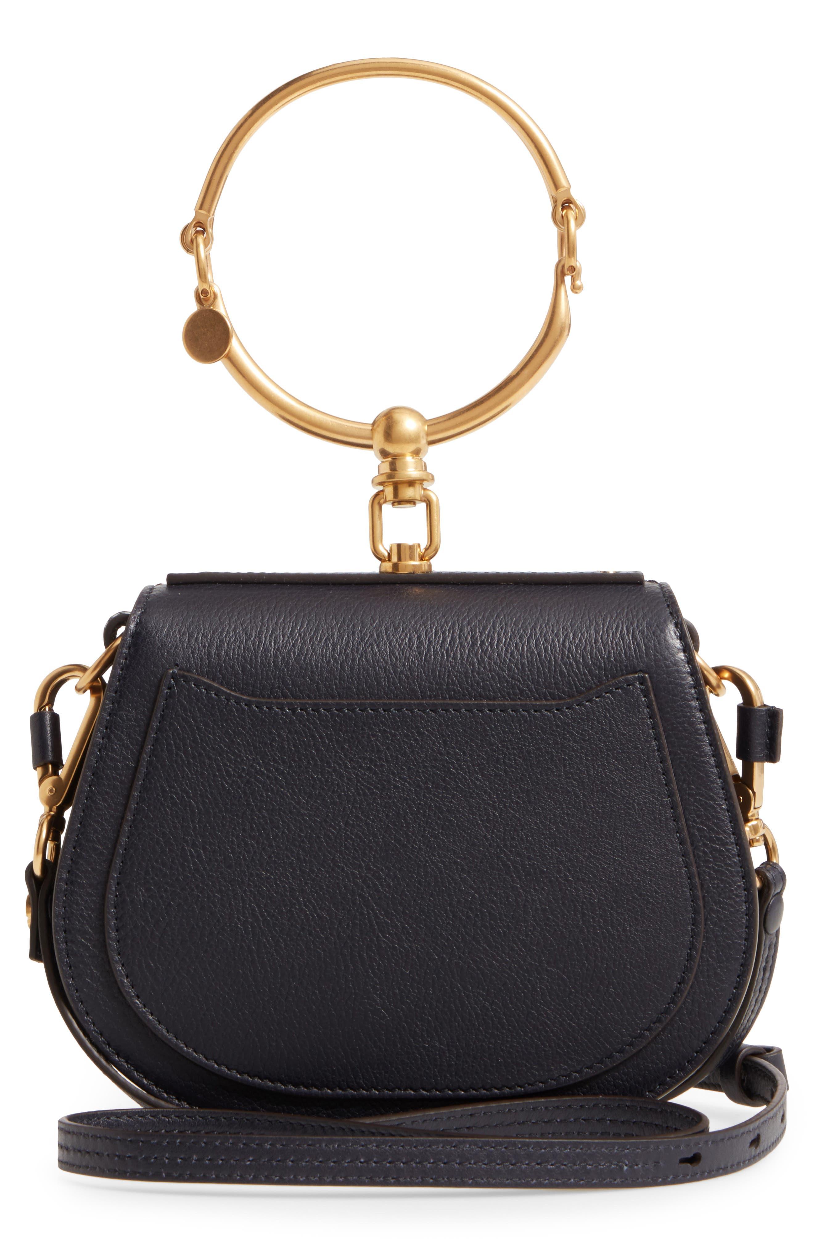 Small Nile Bracelet Studded Leather Crossbody Bag,                             Alternate thumbnail 3, color,