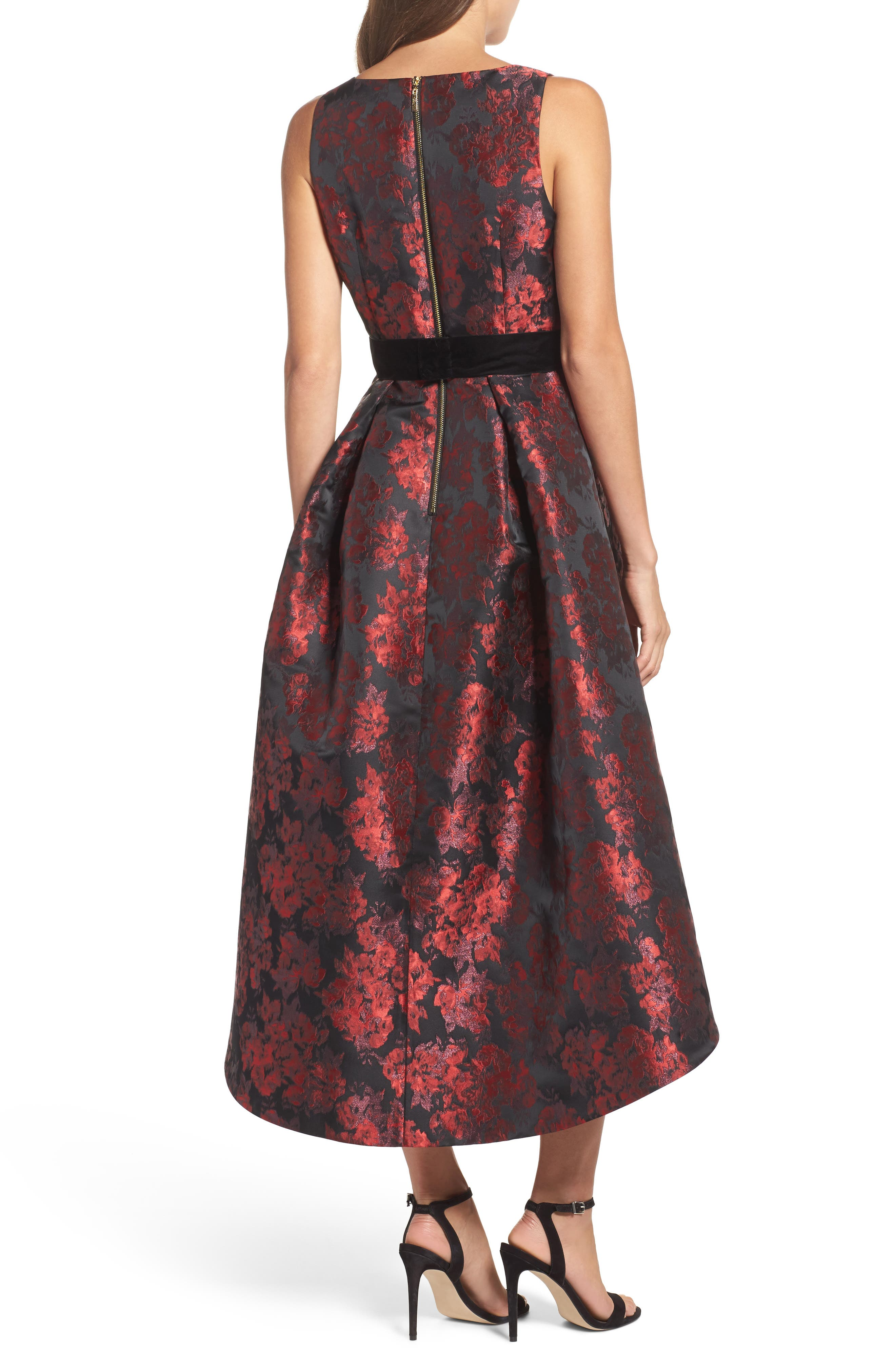 Jacquard High/Low Dress,                             Alternate thumbnail 2, color,