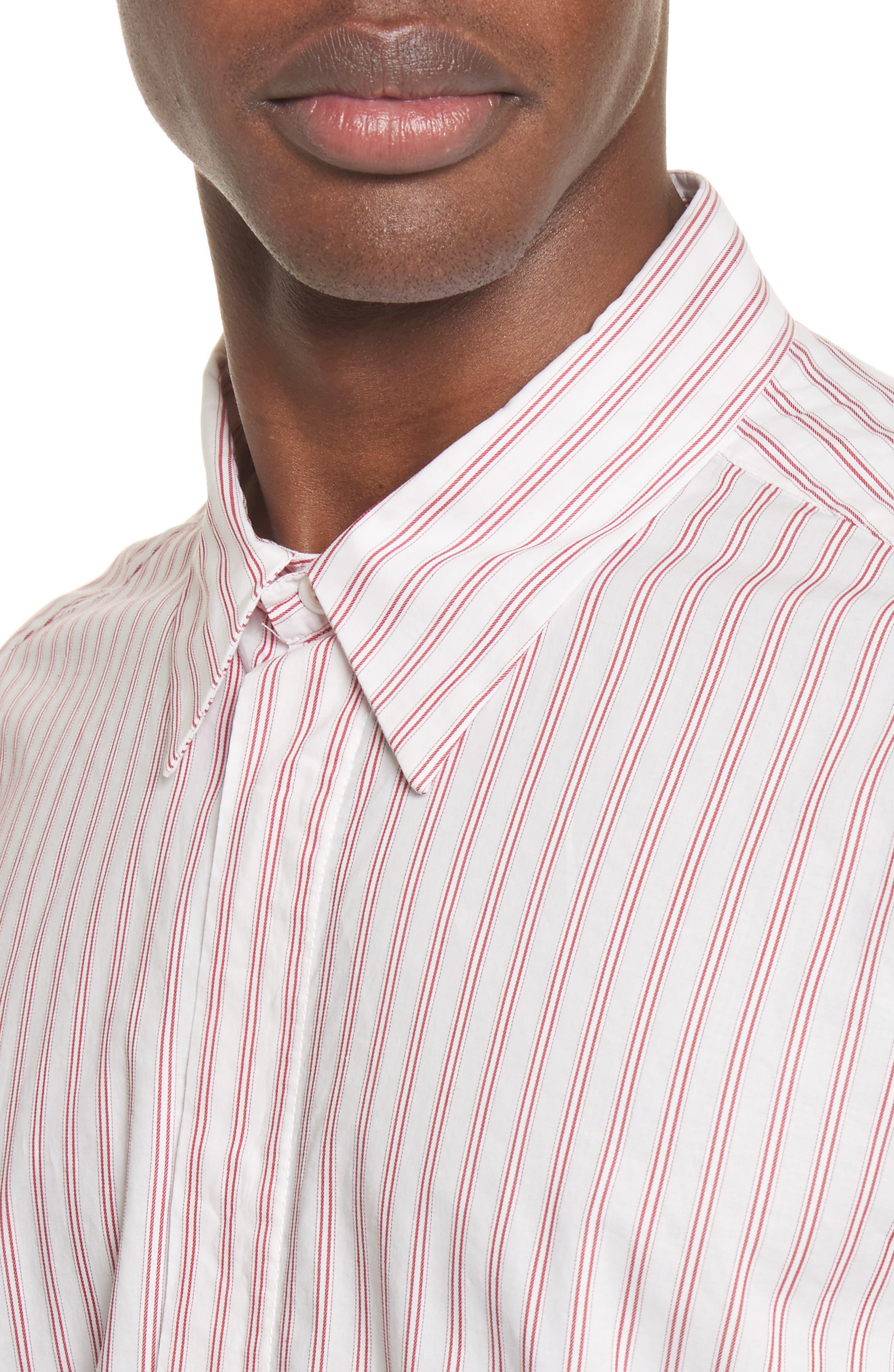 Aega Striped Sport Shirt,                             Alternate thumbnail 5, color,                             110