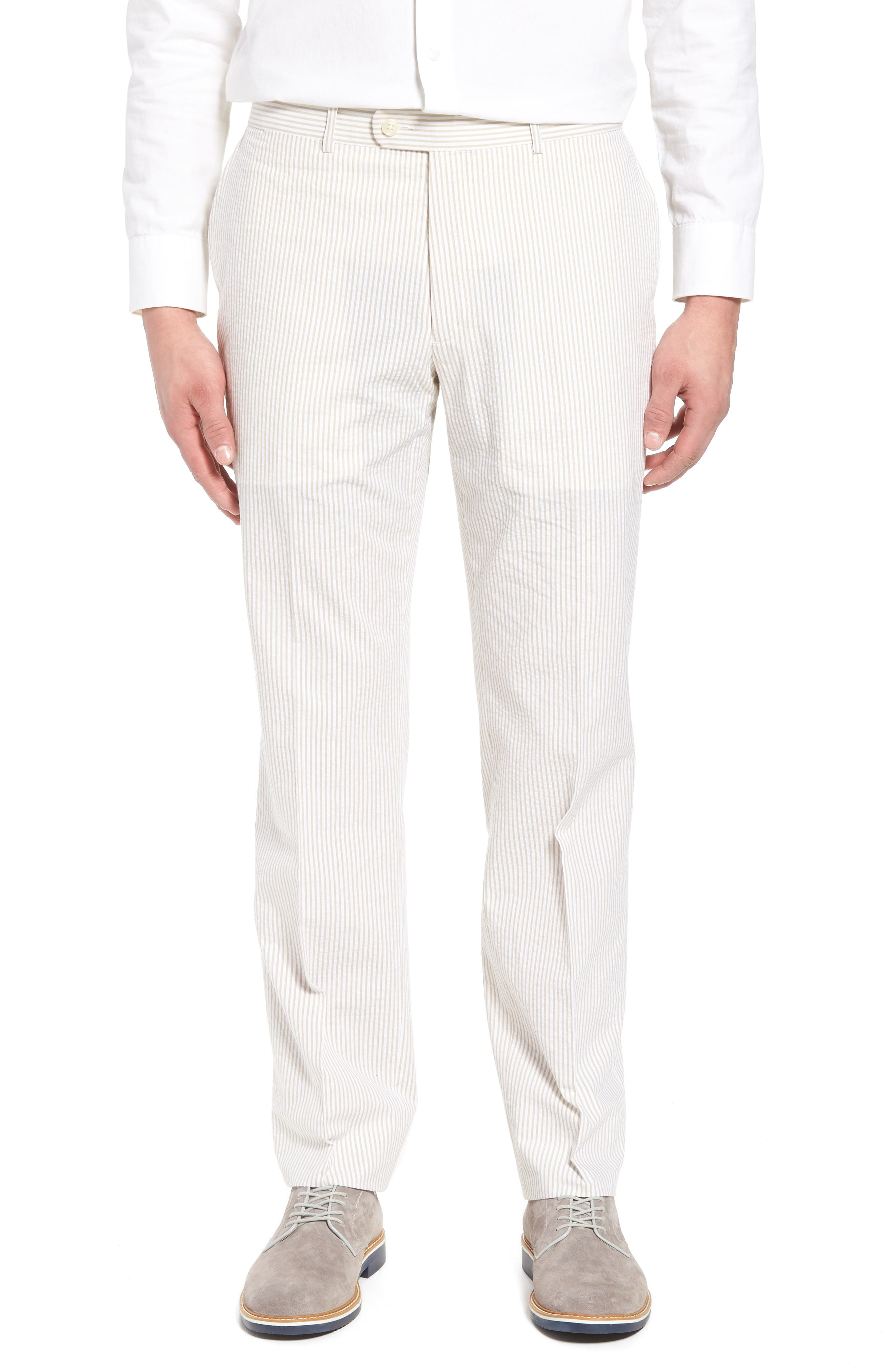 Andrew AIM Flat Front Seersucker Trousers,                             Main thumbnail 1, color,                             250