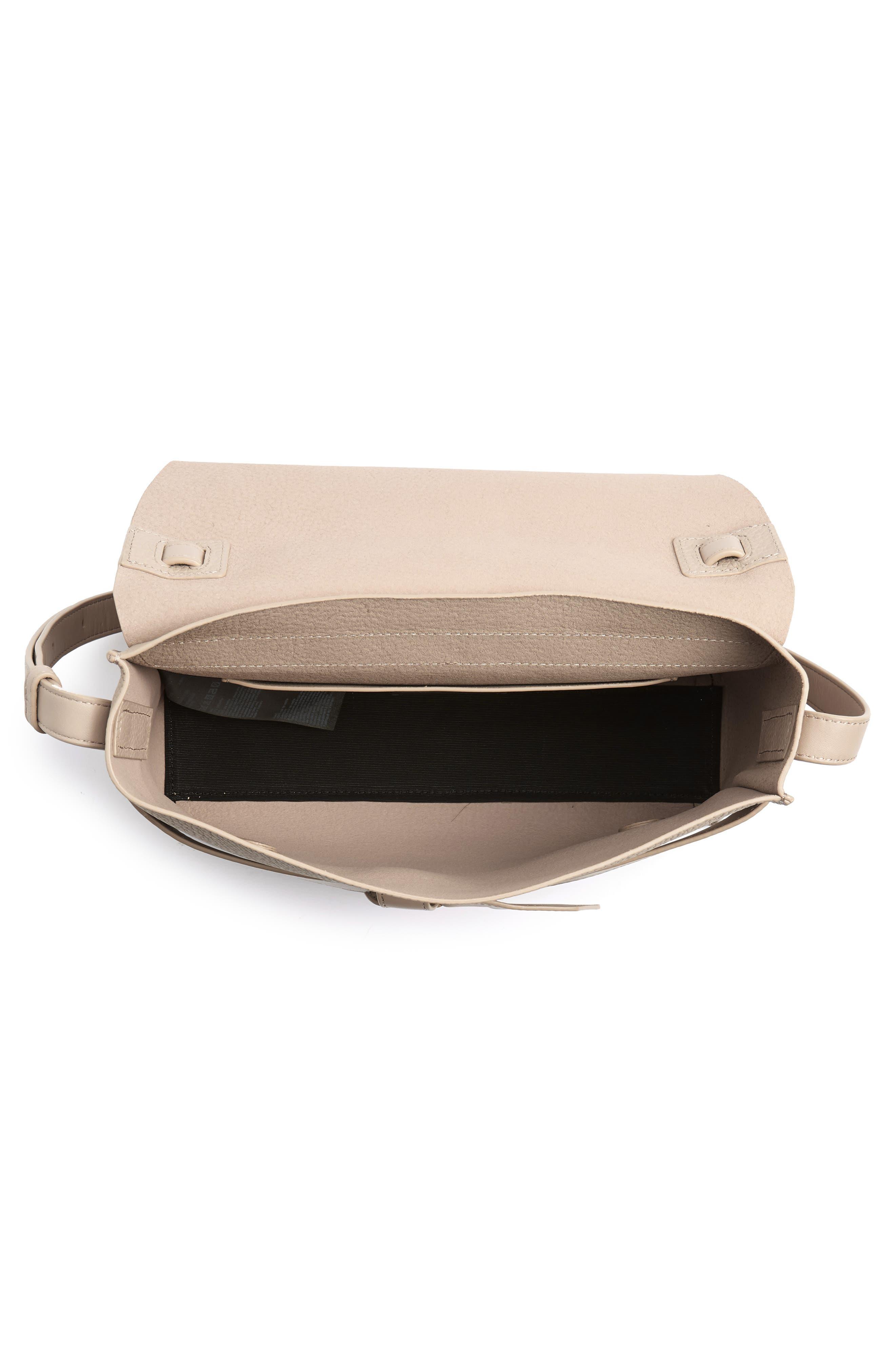 Cami Leather Shoulder Bag,                             Alternate thumbnail 4, color,                             NATURAL