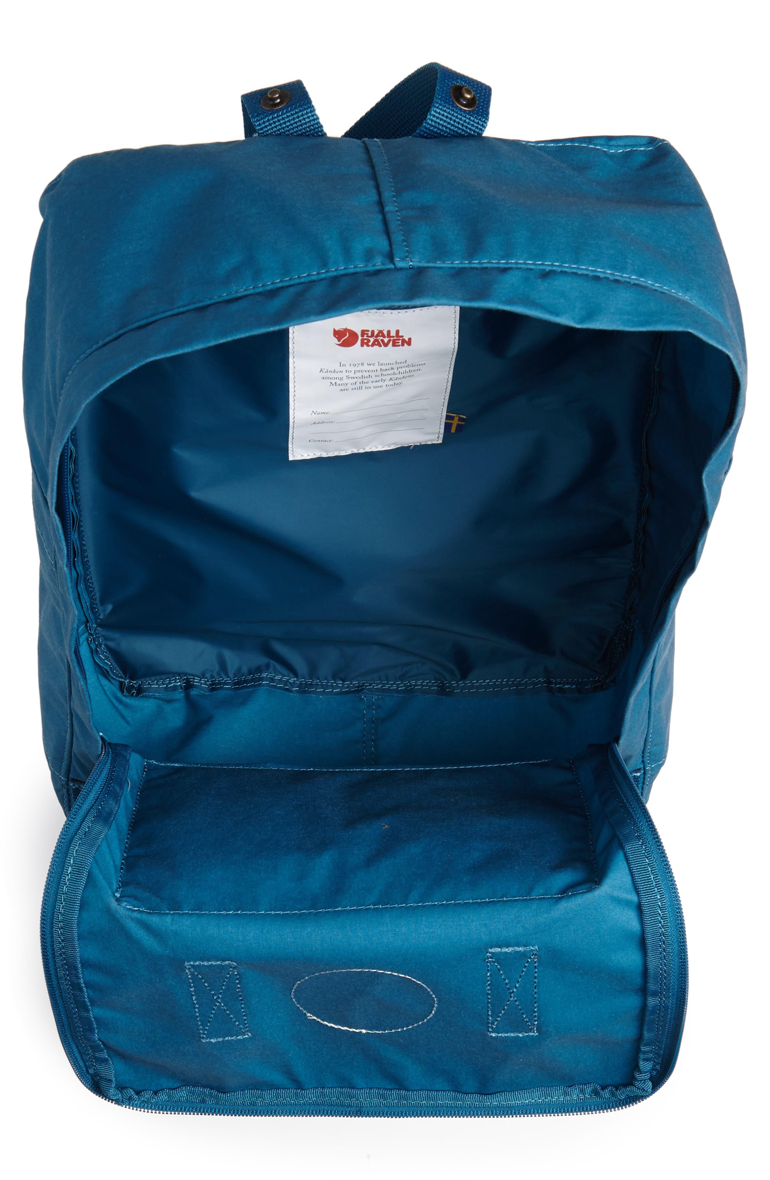 'Kånken' Water Resistant Backpack,                             Alternate thumbnail 4, color,                             GLACIER GREEN