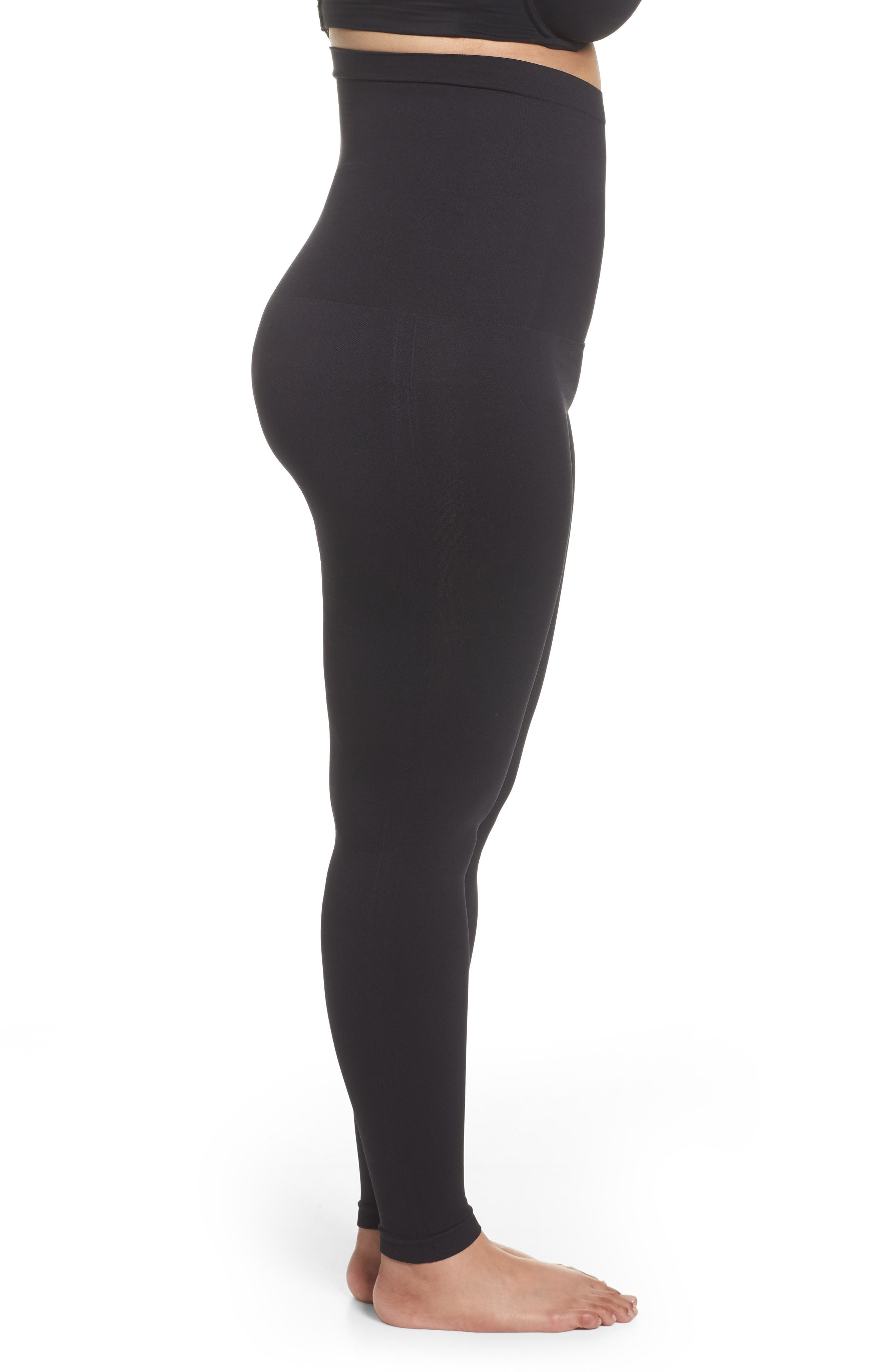 Look At Me Now Seamless Leggings,                             Alternate thumbnail 3, color,                             VERY BLACK