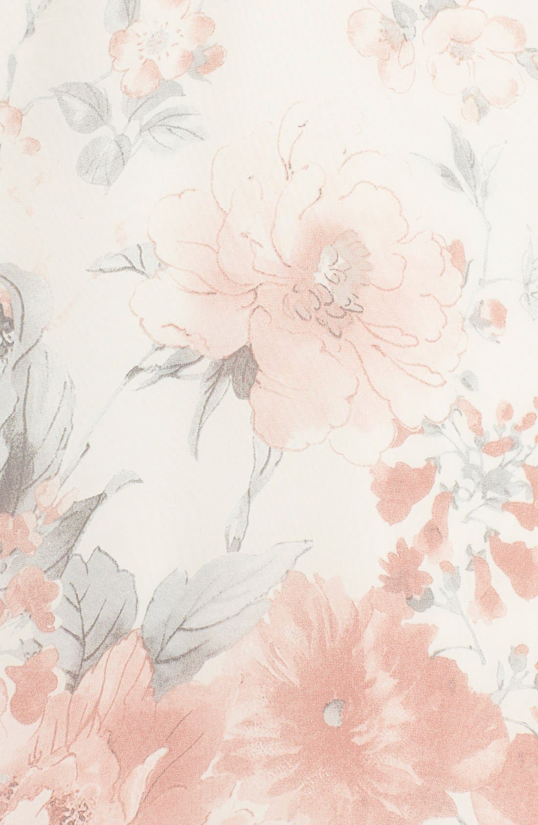 Floral Print Chiffon Blouson Dress,                             Alternate thumbnail 5, color,                             270