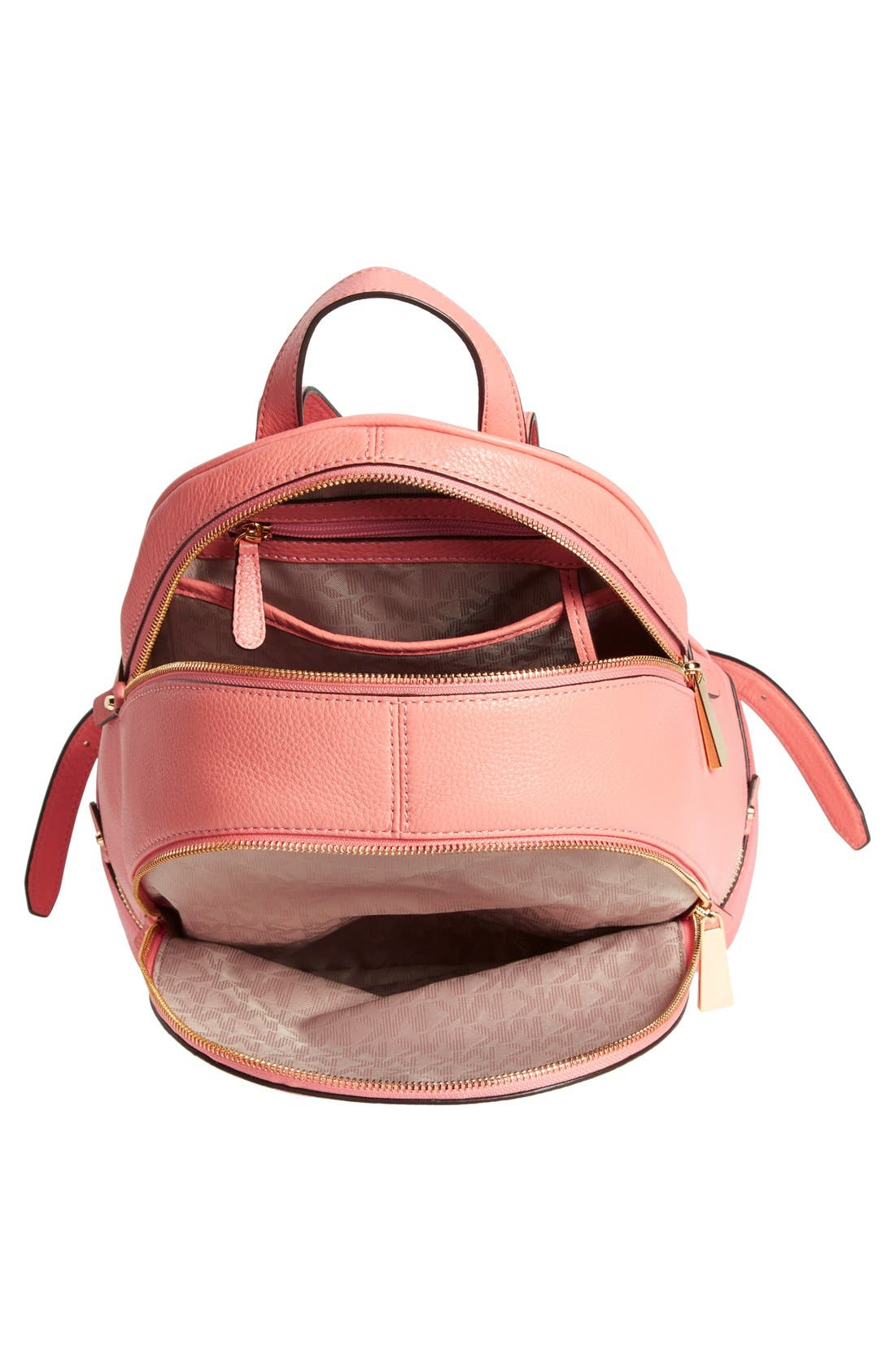 'Small Rhea' Colorblock Leather Backpack,                             Alternate thumbnail 3, color,                             950