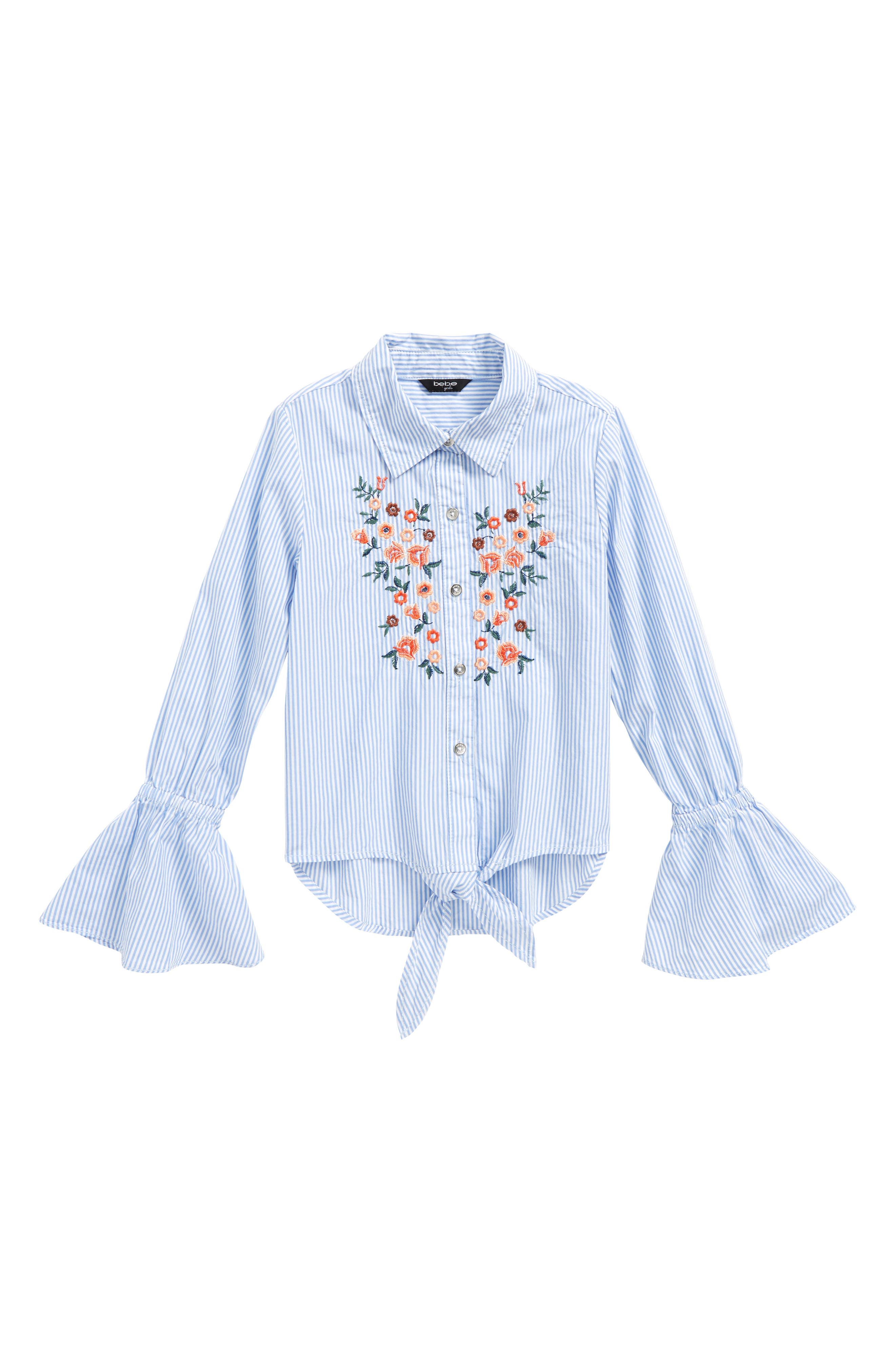 Embroidered Stripe Top,                             Main thumbnail 1, color,                             400