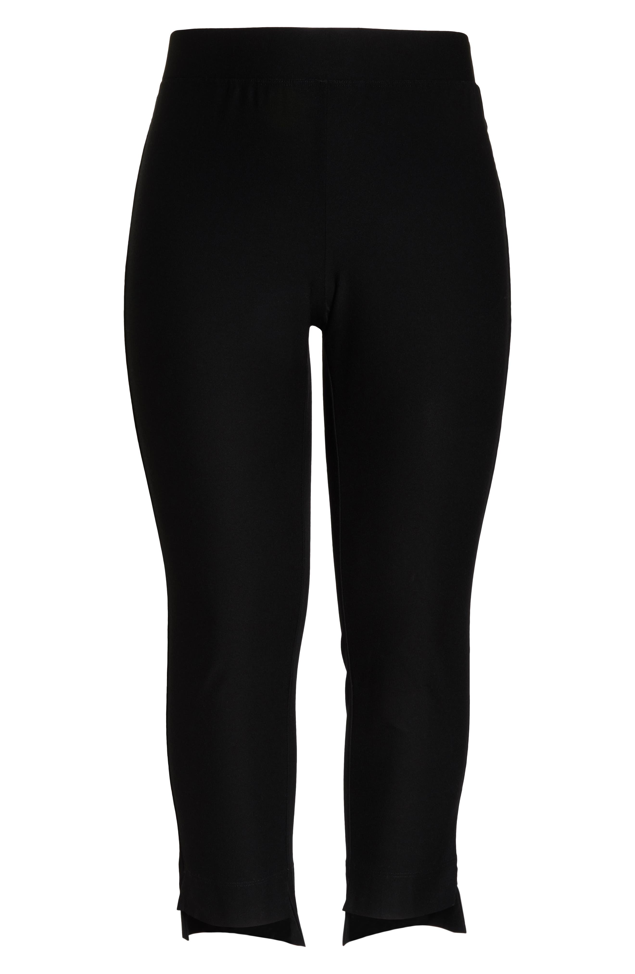 Slim Fit Crop Pants,                             Alternate thumbnail 7, color,                             BLACK