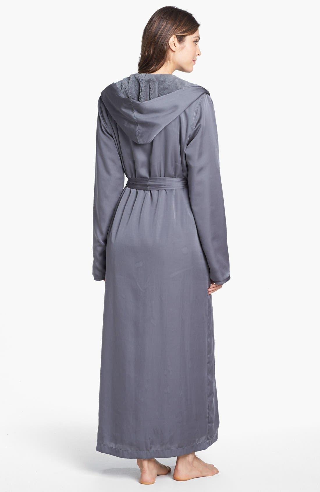 Donna Karan Plush Lined Robe,                             Alternate thumbnail 2, color,                             023