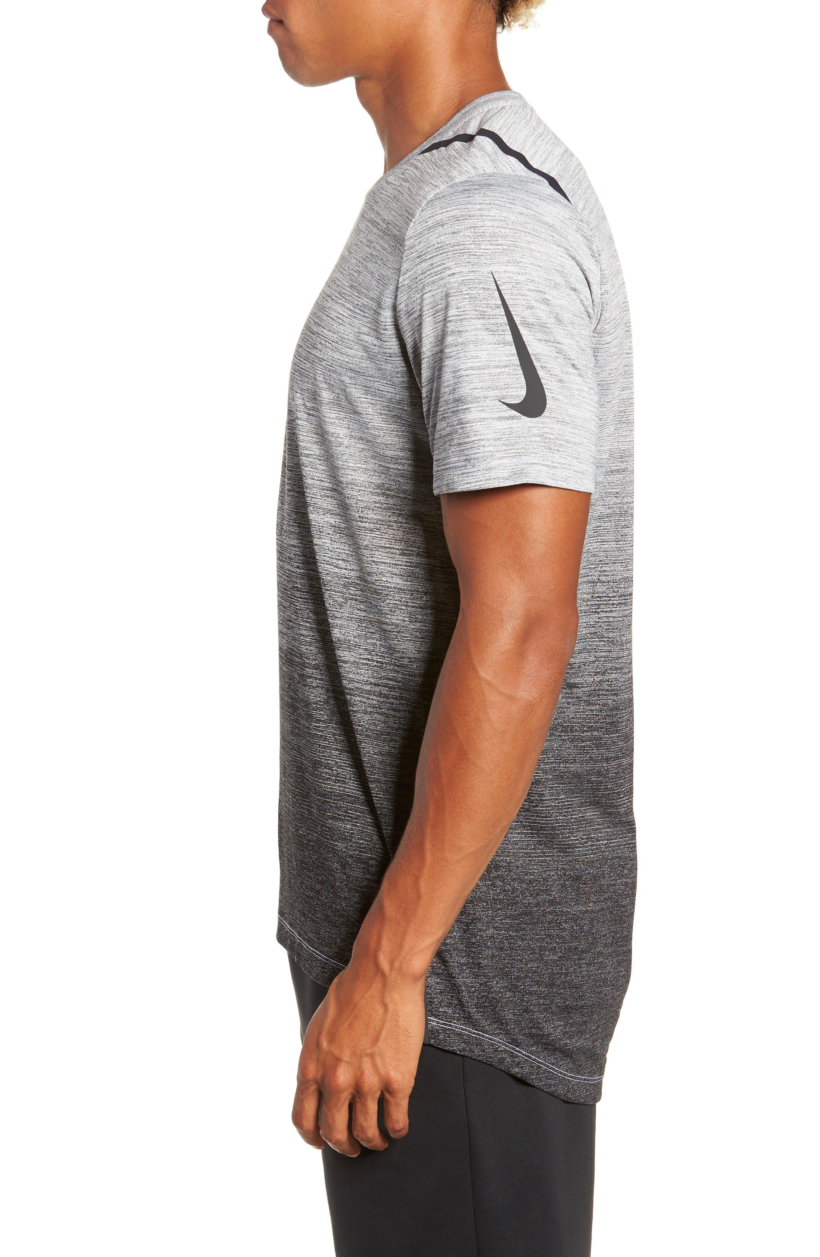 Dry Max Training T-Shirt,                             Alternate thumbnail 3, color,                             BLACK/ WHITE/ HYPER COBALT