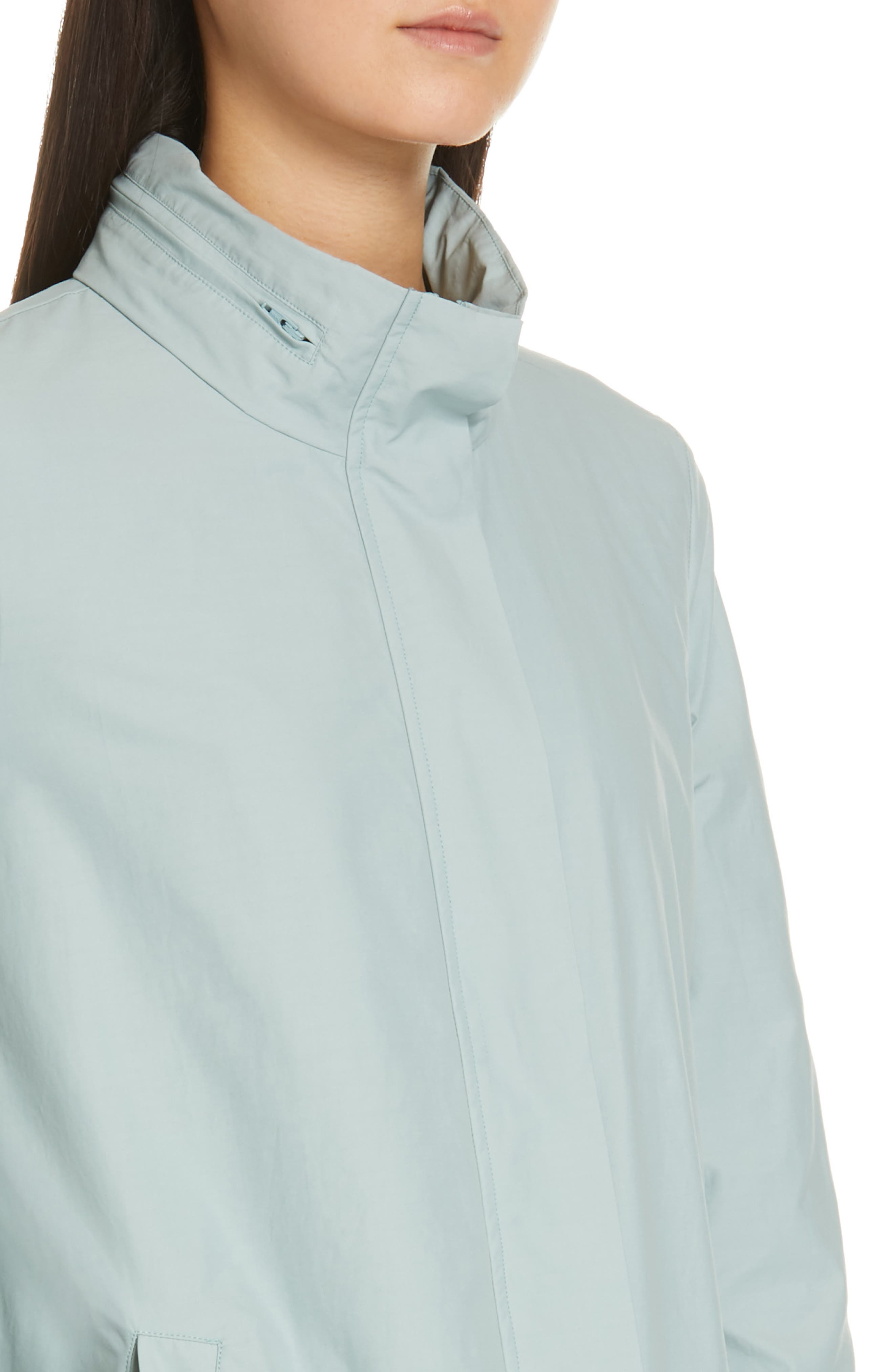 EILEEN FISHER,                             A-Line Jacket,                             Alternate thumbnail 5, color,                             BLUE IVY