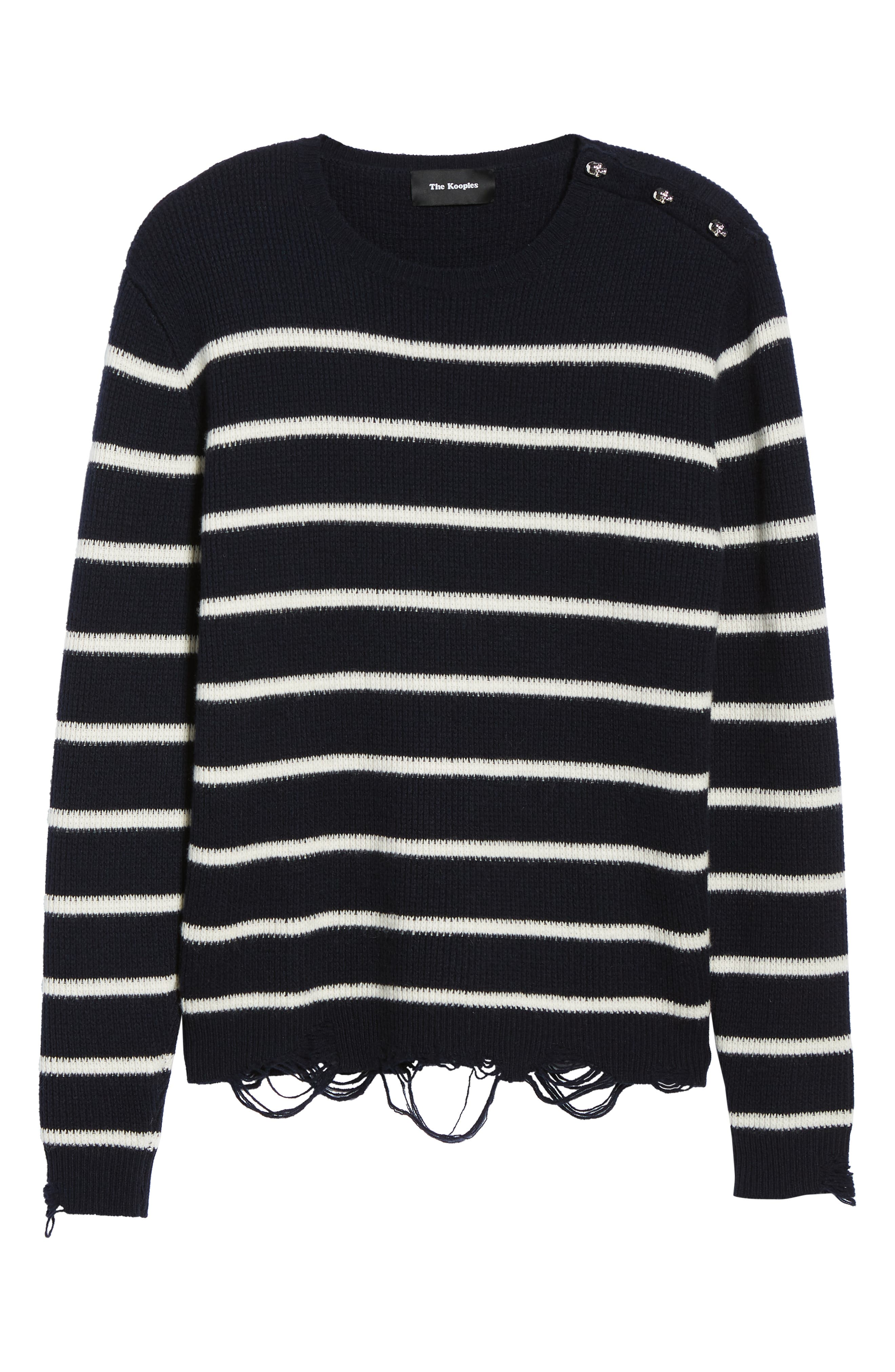 Regular Fit Striped Sweater,                             Alternate thumbnail 6, color,                             400