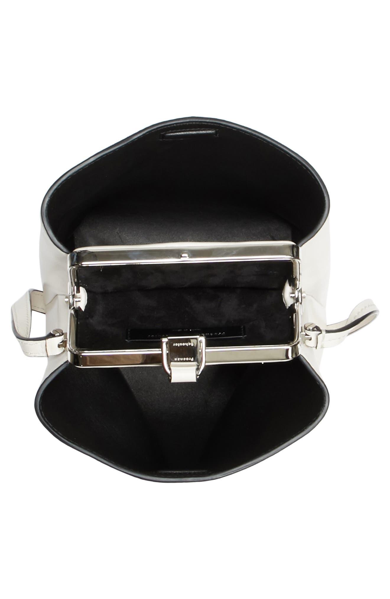 Frame Leather Crossbody Bag,                             Alternate thumbnail 3, color,                             CLAY/ BLACK
