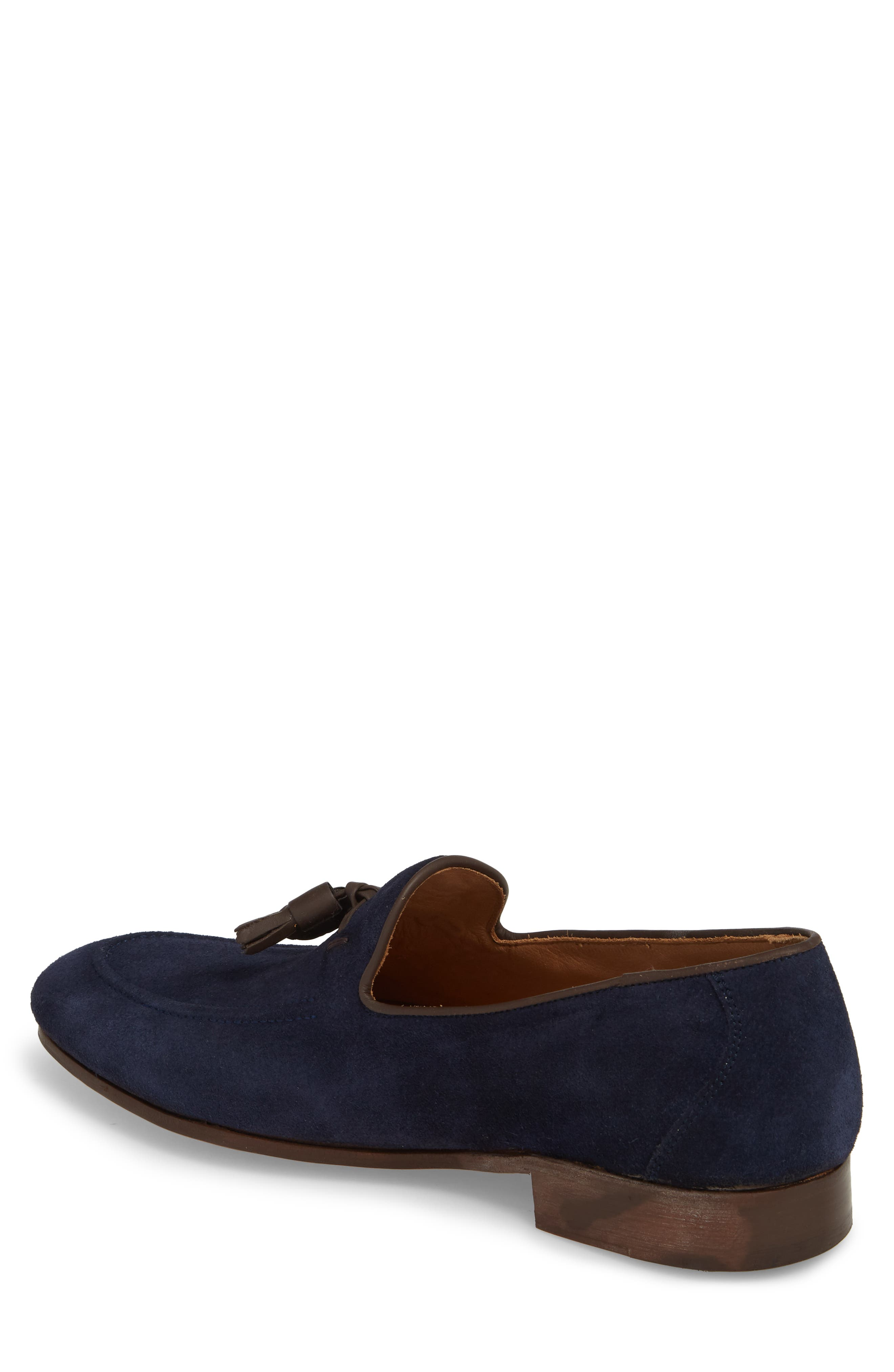 Ario Tassel Loafer,                             Alternate thumbnail 2, color,                             NAVY SUEDE