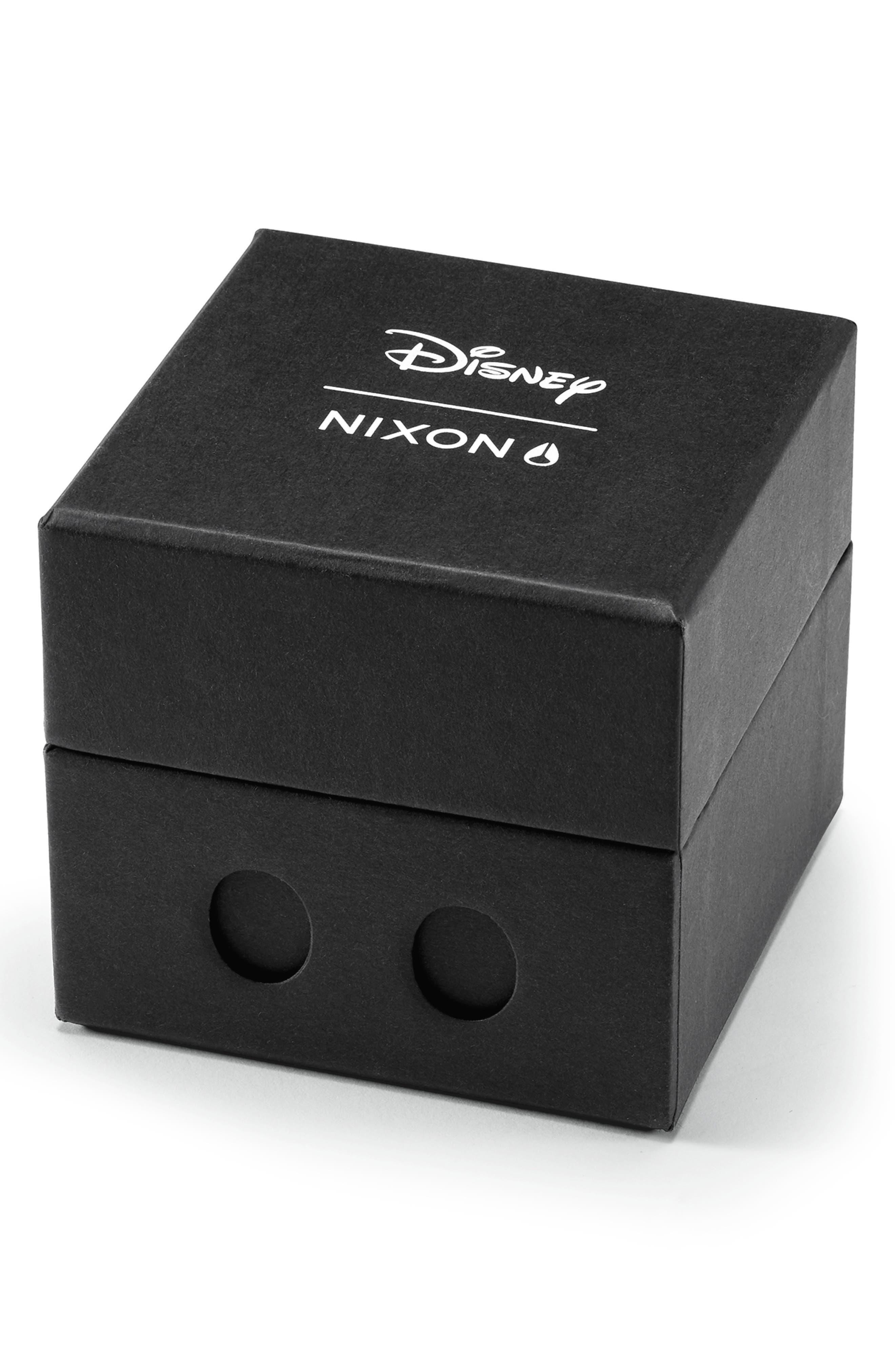 NIXON,                             x Disney Time Teller Strap Watch, 40mm,                             Alternate thumbnail 4, color,                             RED/ BLACK/ RED