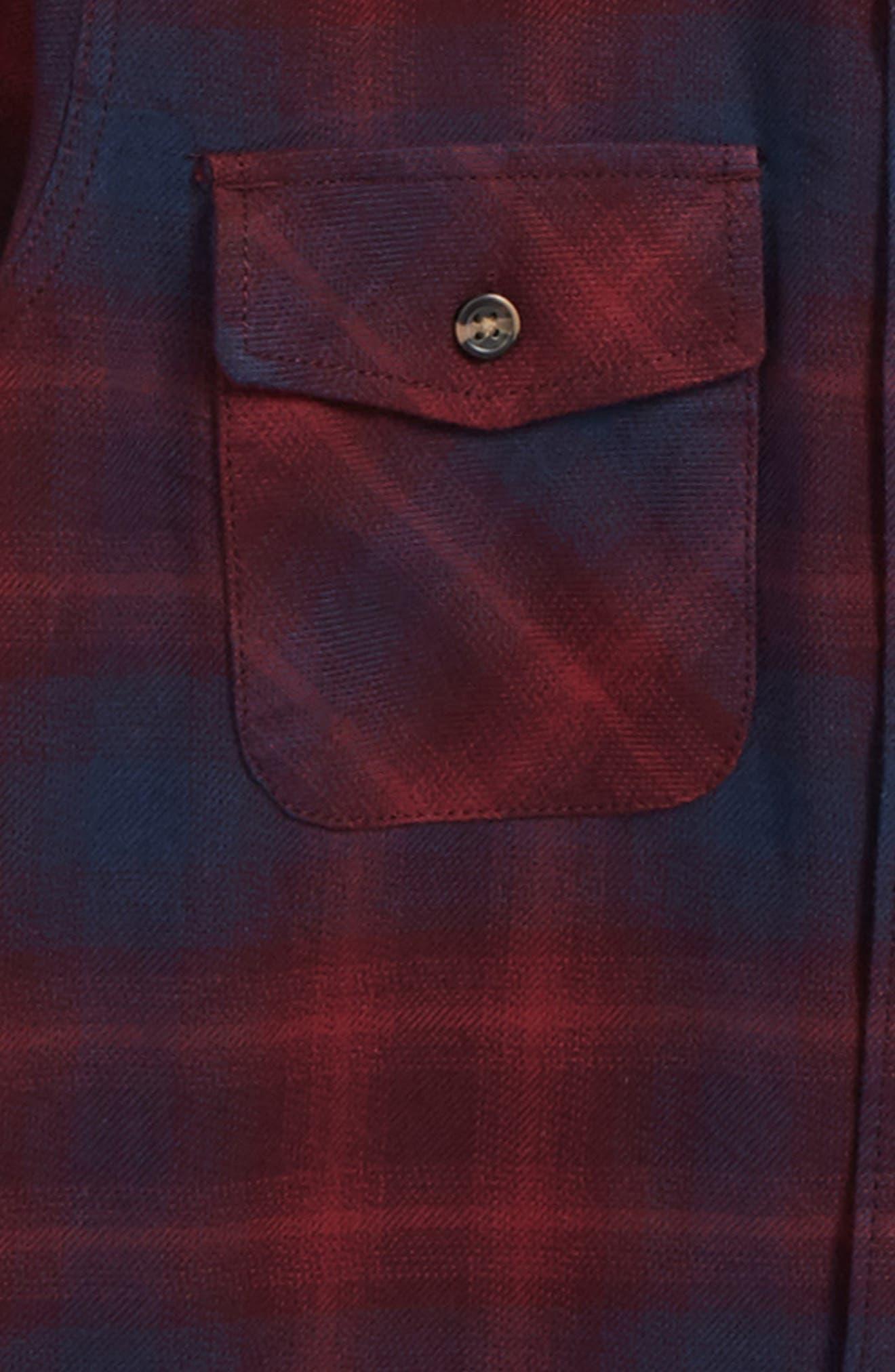 Monterey II Plaid Flannel Shirt,                             Alternate thumbnail 4, color,