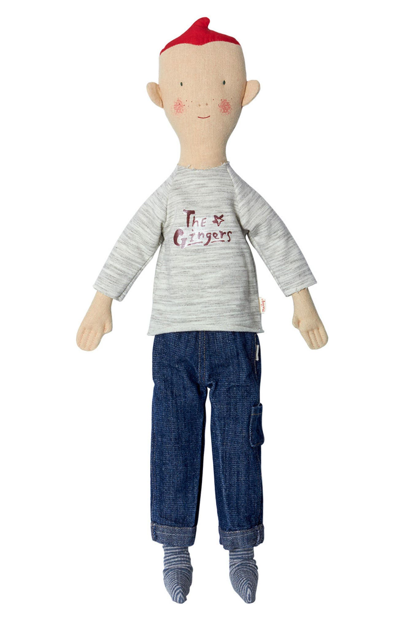 Size 2 Ginger Brother Doll,                             Main thumbnail 1, color,                             IVORY