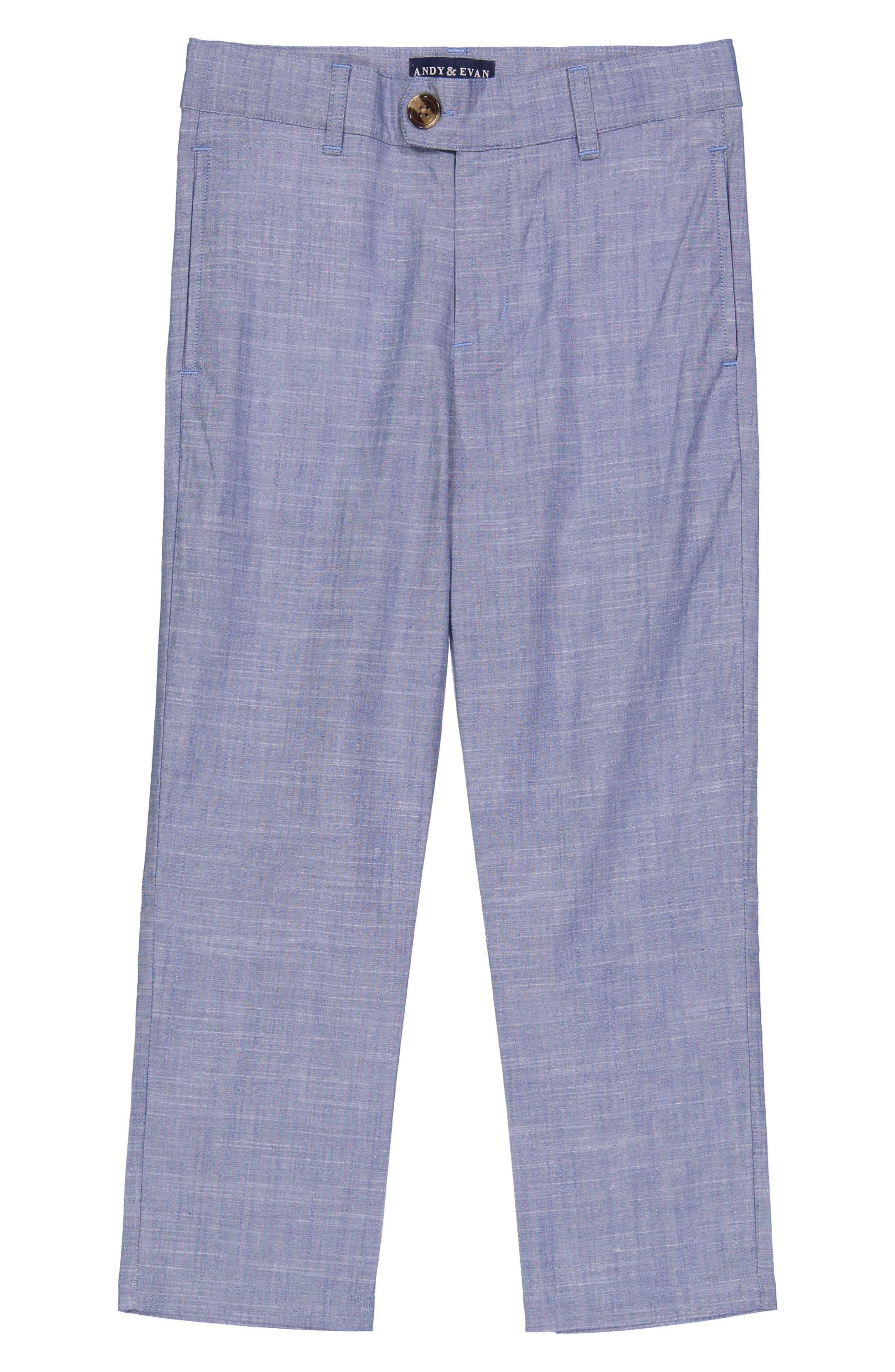 Chambray Suit Set,                             Alternate thumbnail 3, color,                             BLUE