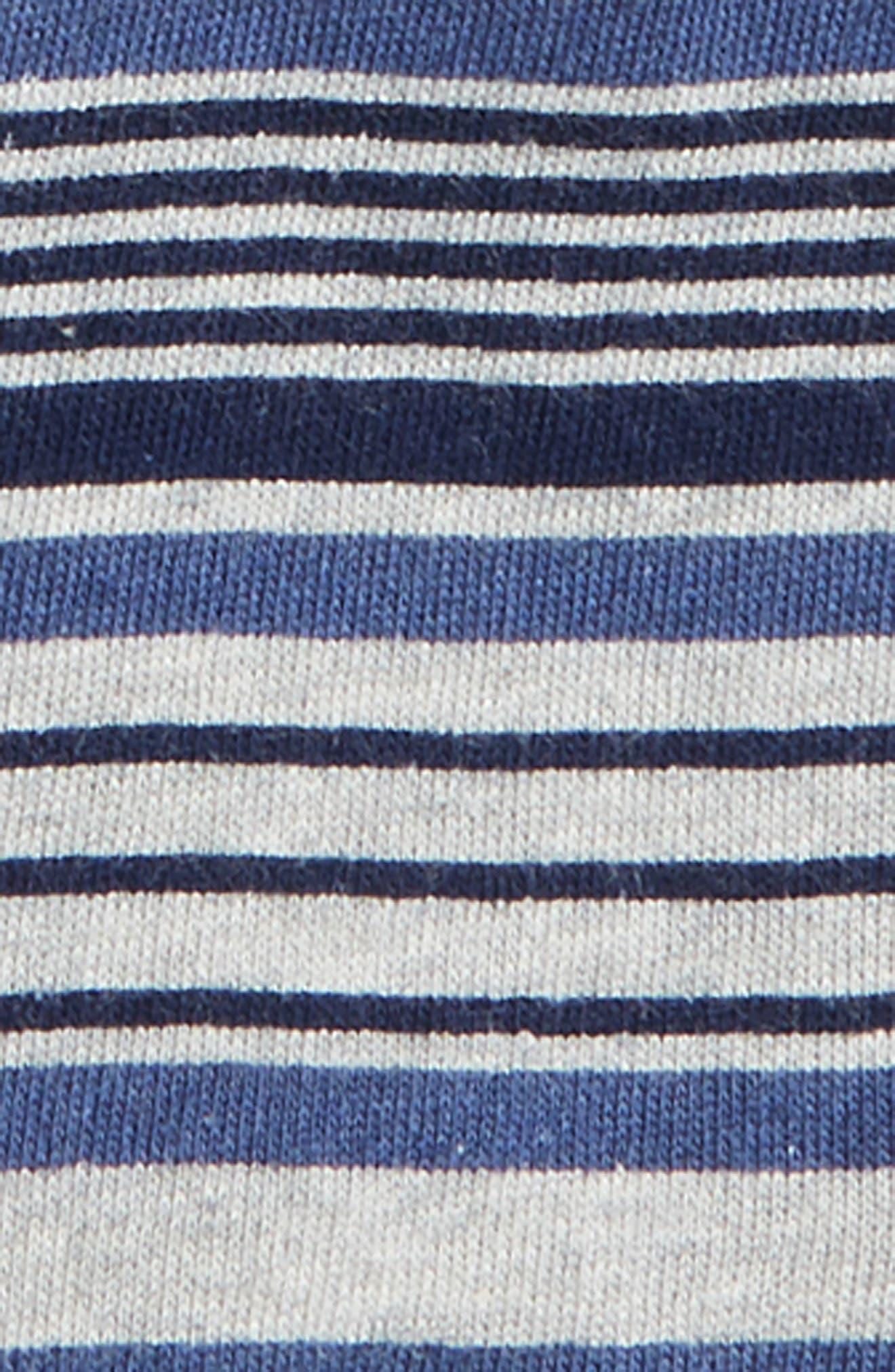 Slub Henley T-Shirt & Stripe French Terry Shorts Set,                             Alternate thumbnail 2, color,                             420
