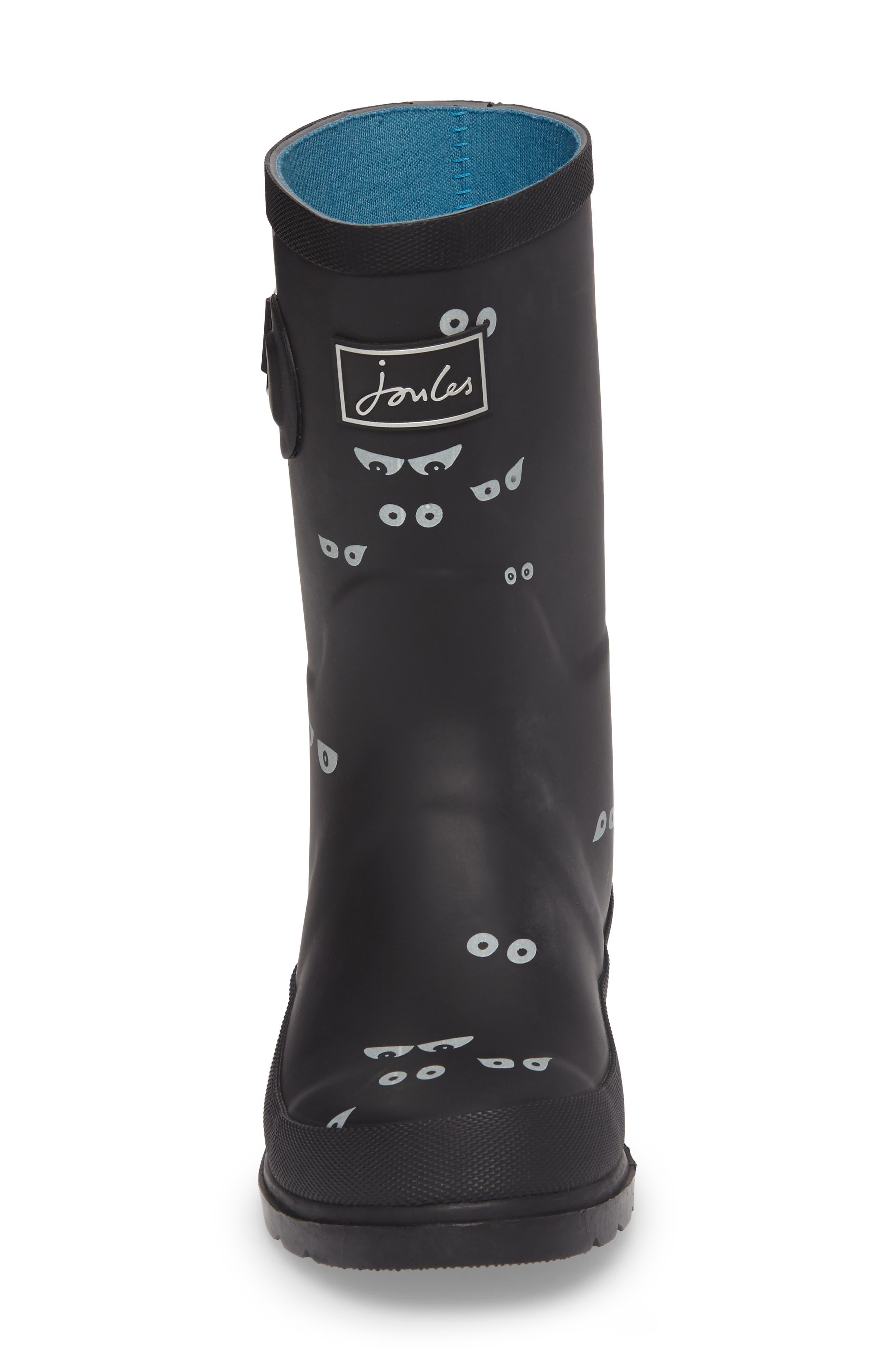 Printed Waterproof Rain Boot,                             Alternate thumbnail 4, color,                             001