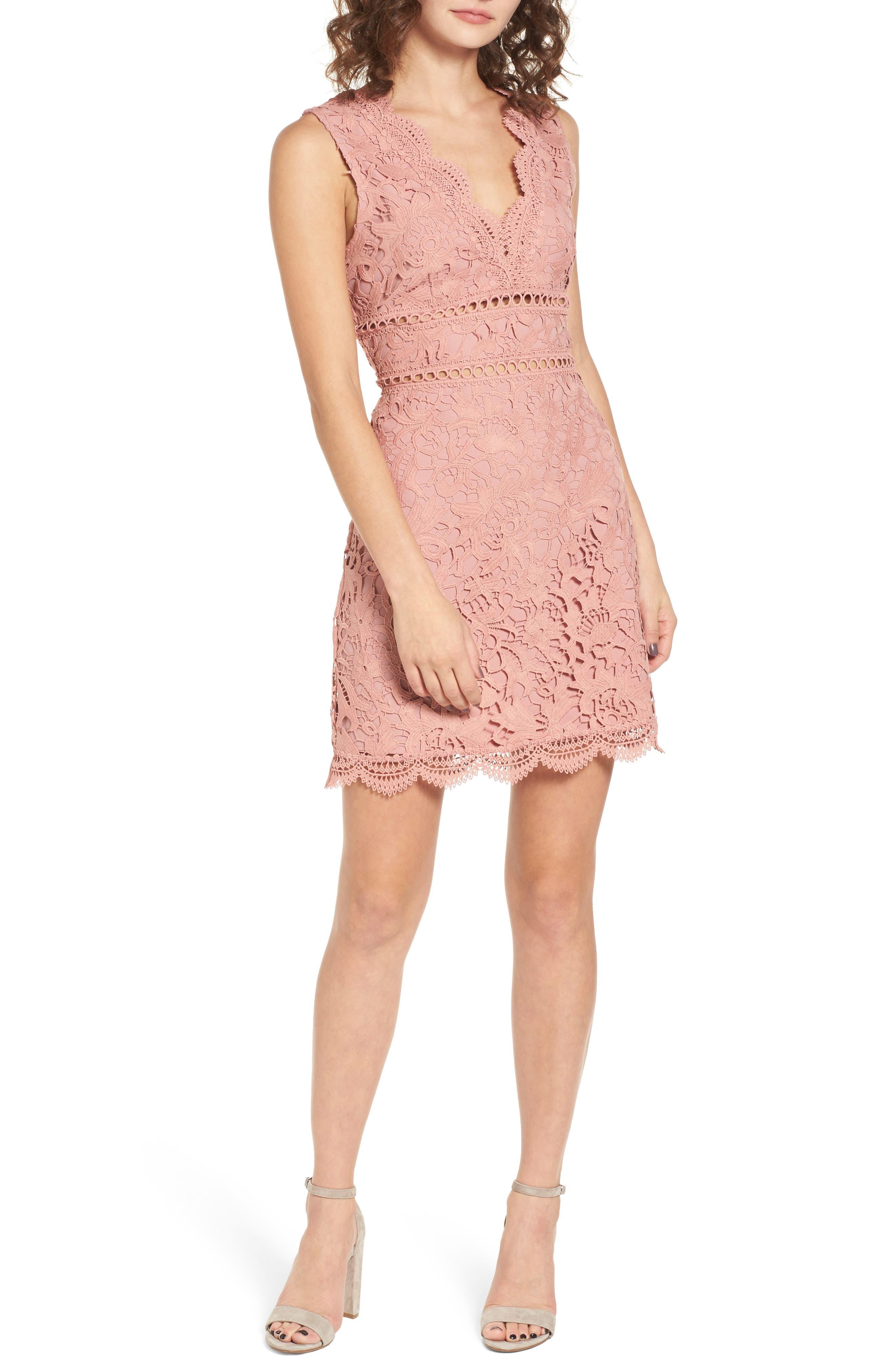 Lace Minidress,                             Main thumbnail 1, color,