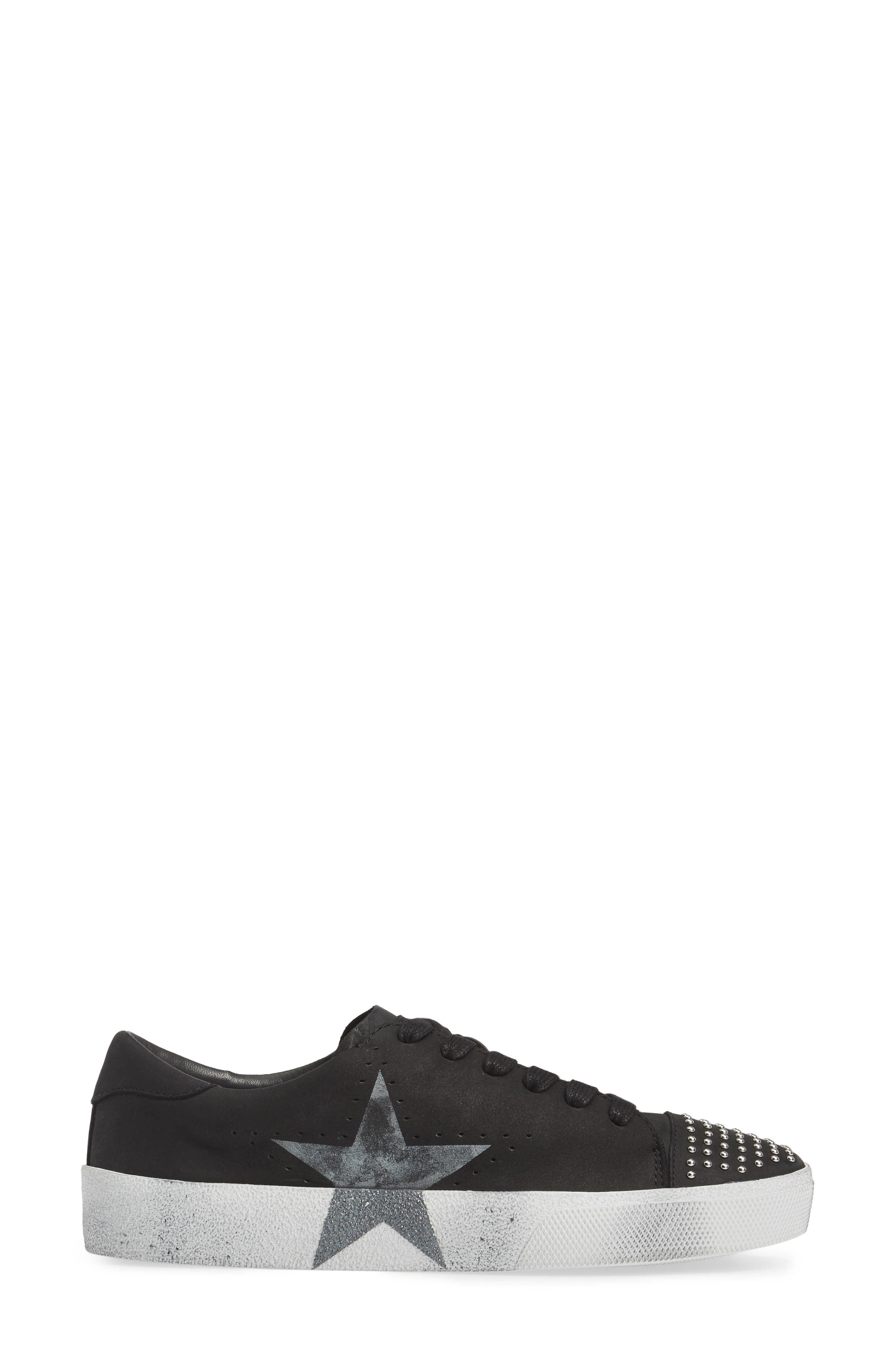Catcall Studded Sneaker,                             Alternate thumbnail 3, color,                             002