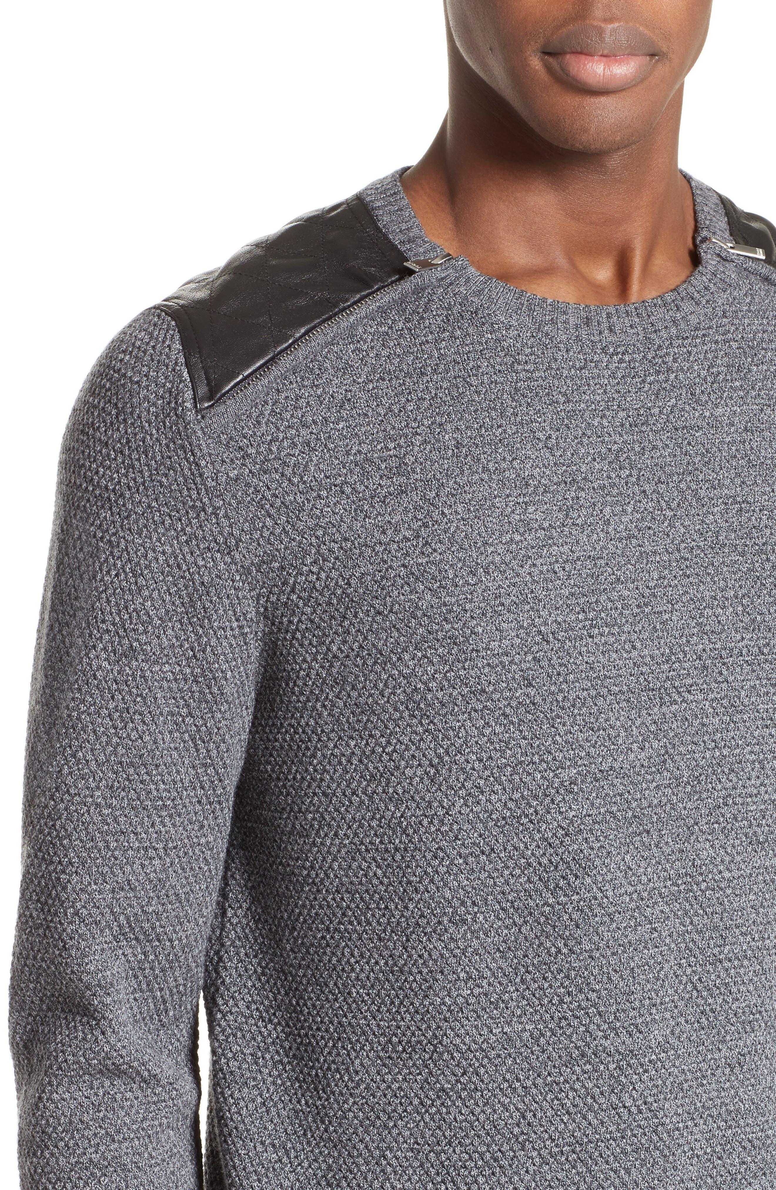 Merino Wool Sweater,                             Alternate thumbnail 4, color,                             020