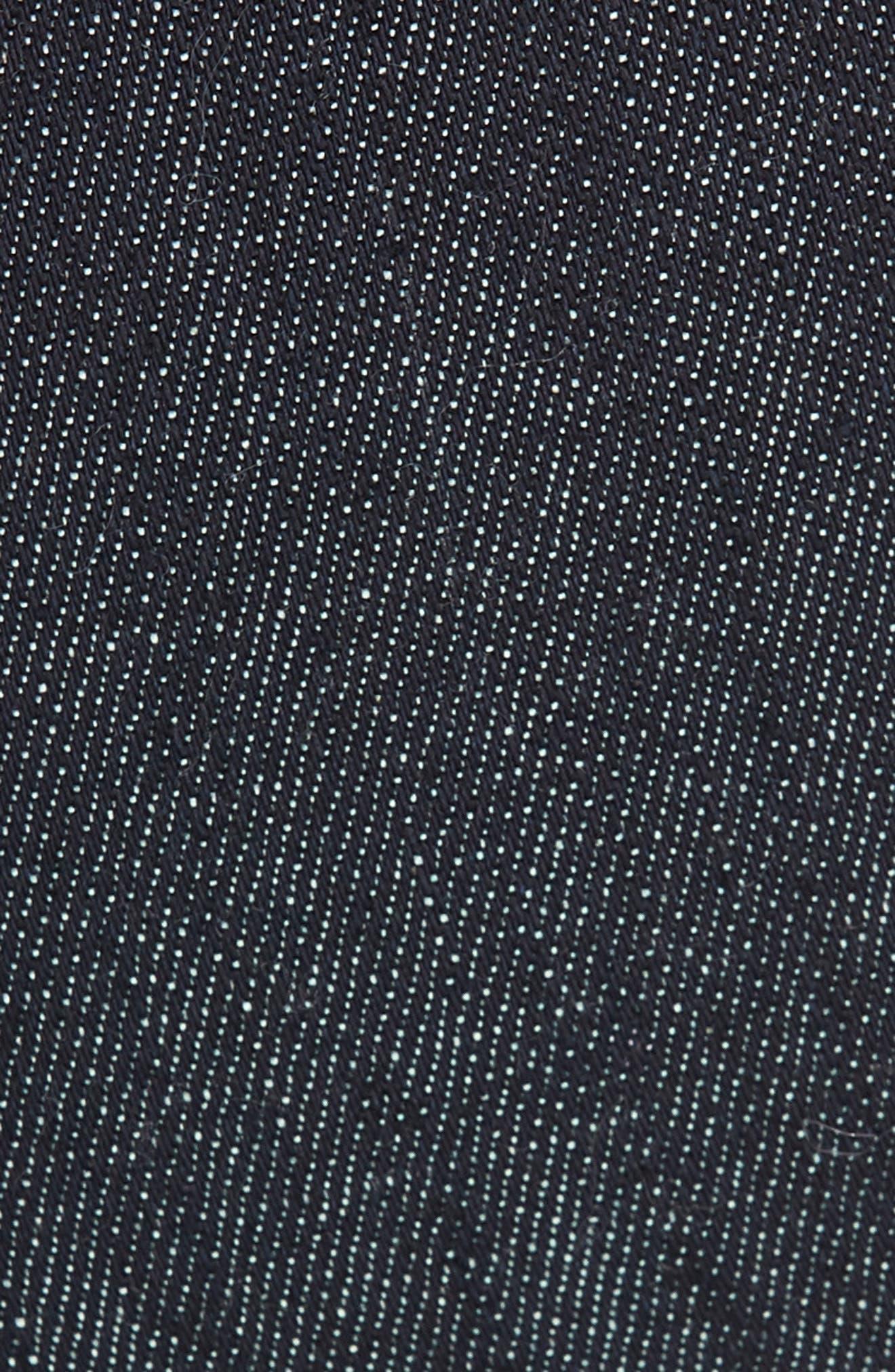 Scallop Hem Crop Wide Leg Jeans,                             Alternate thumbnail 5, color,                             BLUE DENIM