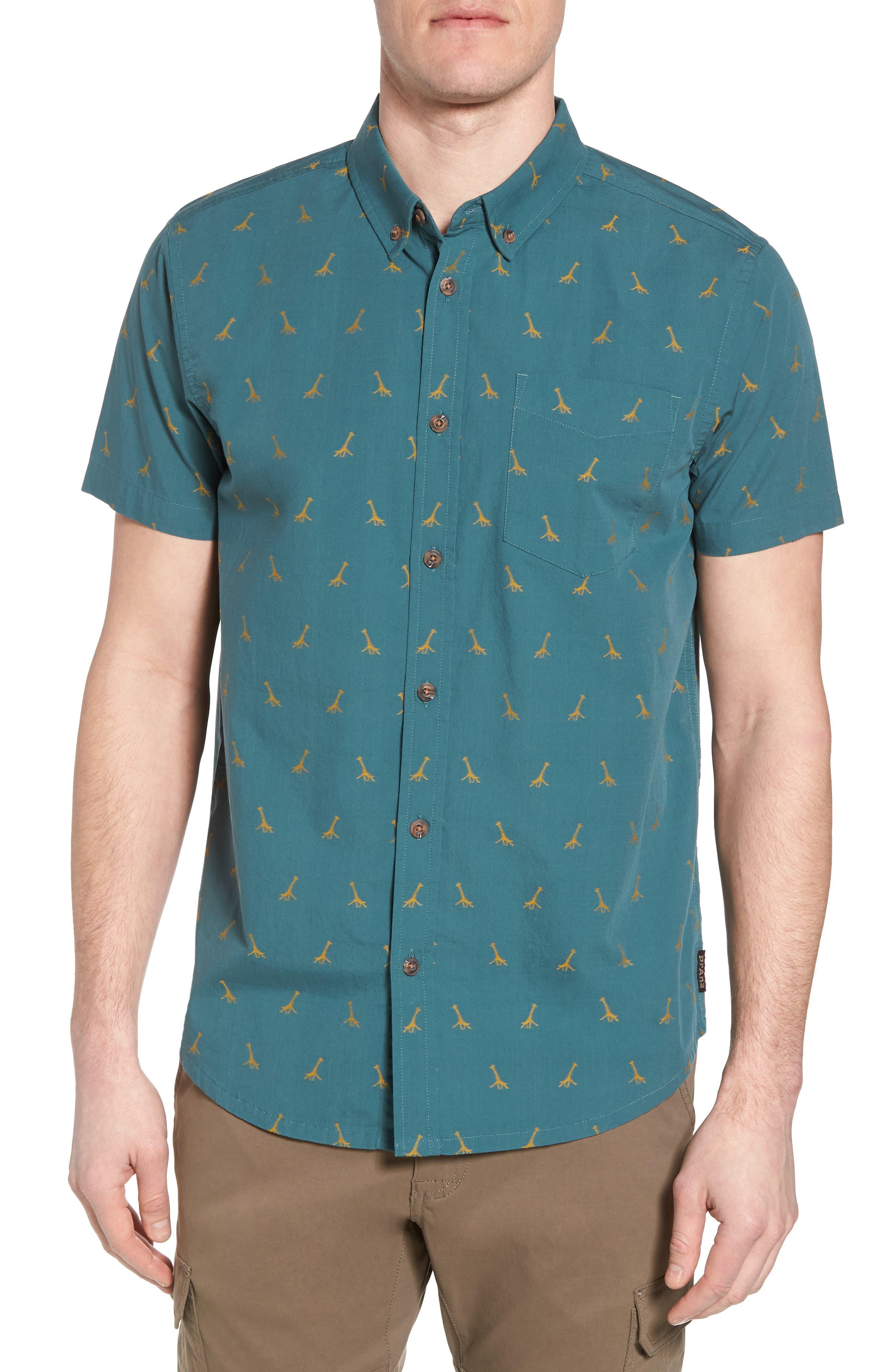 Broderick Slim Fit Short Sleeve Sport Shirt,                         Main,                         color, 300