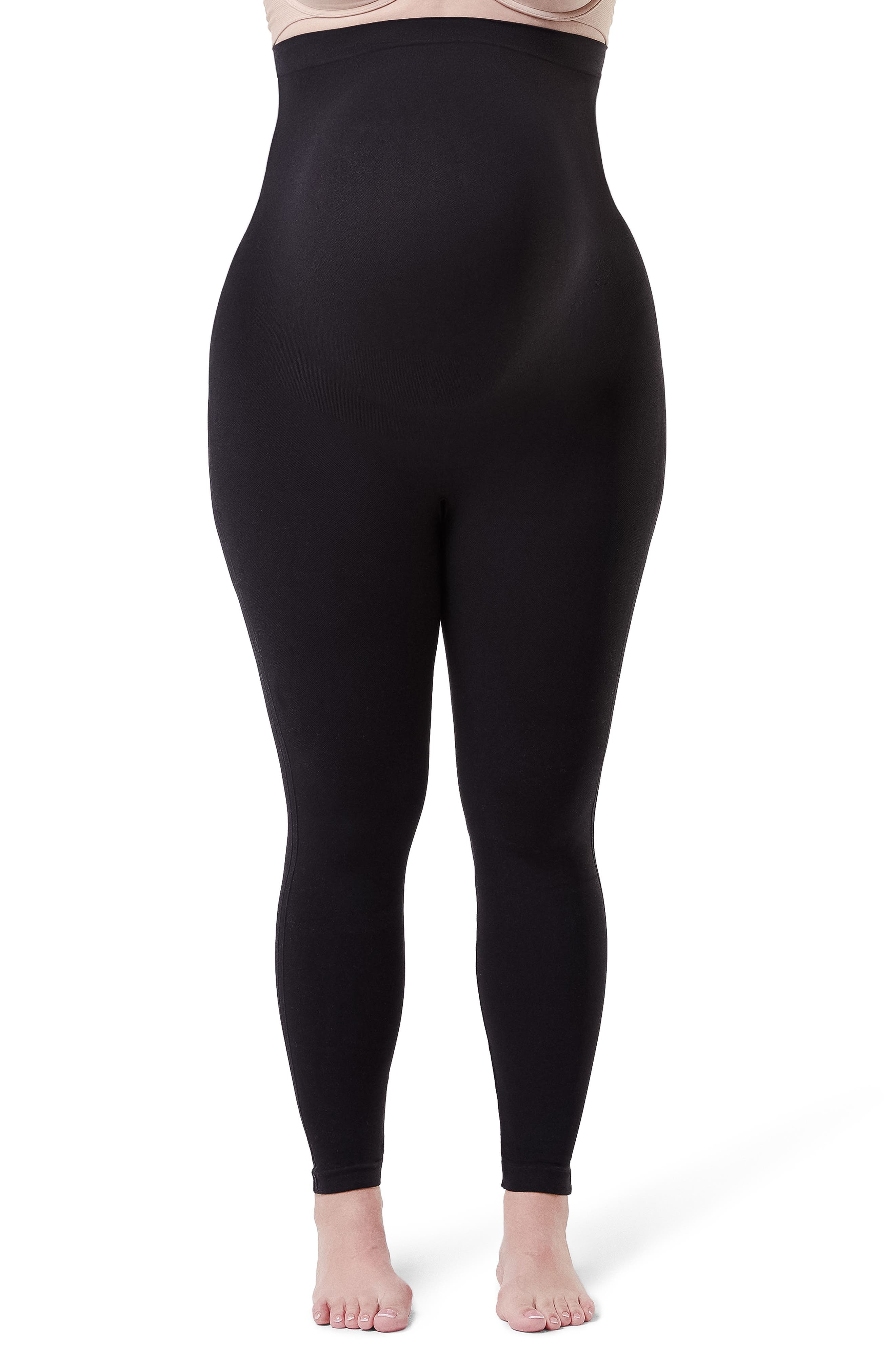 Mama Look at Me Now Seamless Maternity Leggings,                         Main,                         color, VERY BLACK