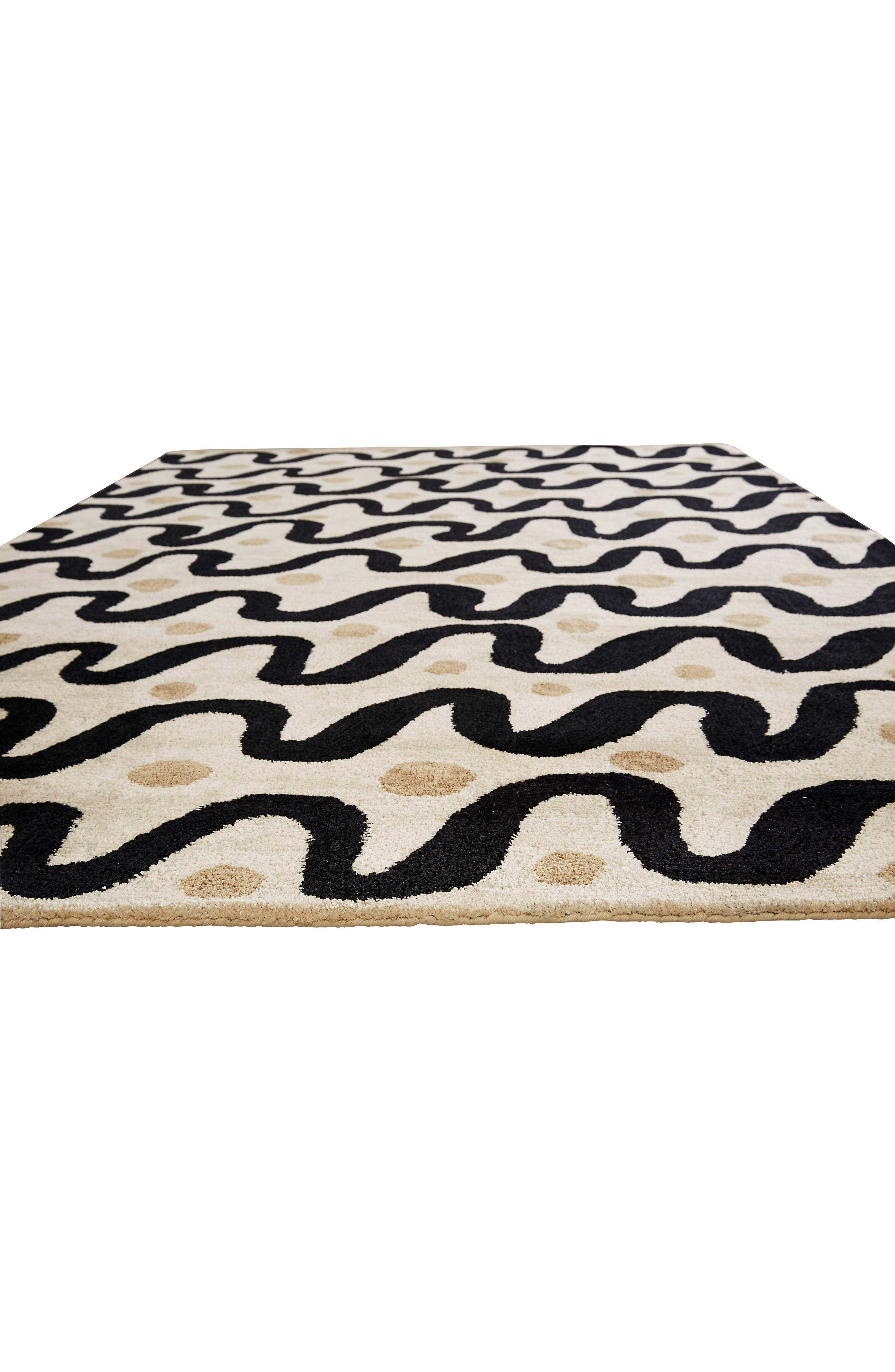 contemporary waves rug,                             Alternate thumbnail 4, color,                             250