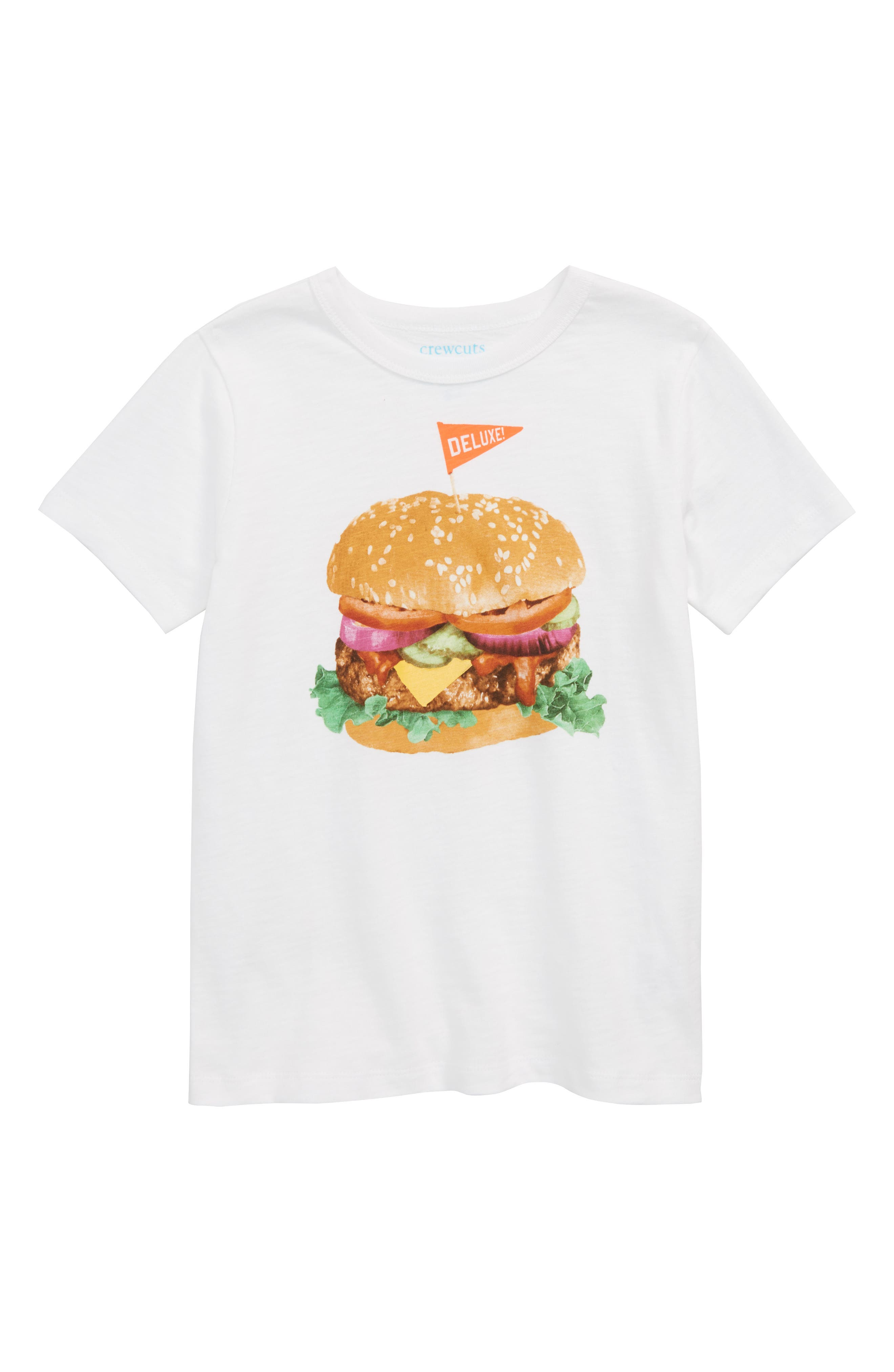 Deluxe Burger Graphic T-Shirt,                             Main thumbnail 1, color,                             WHITE