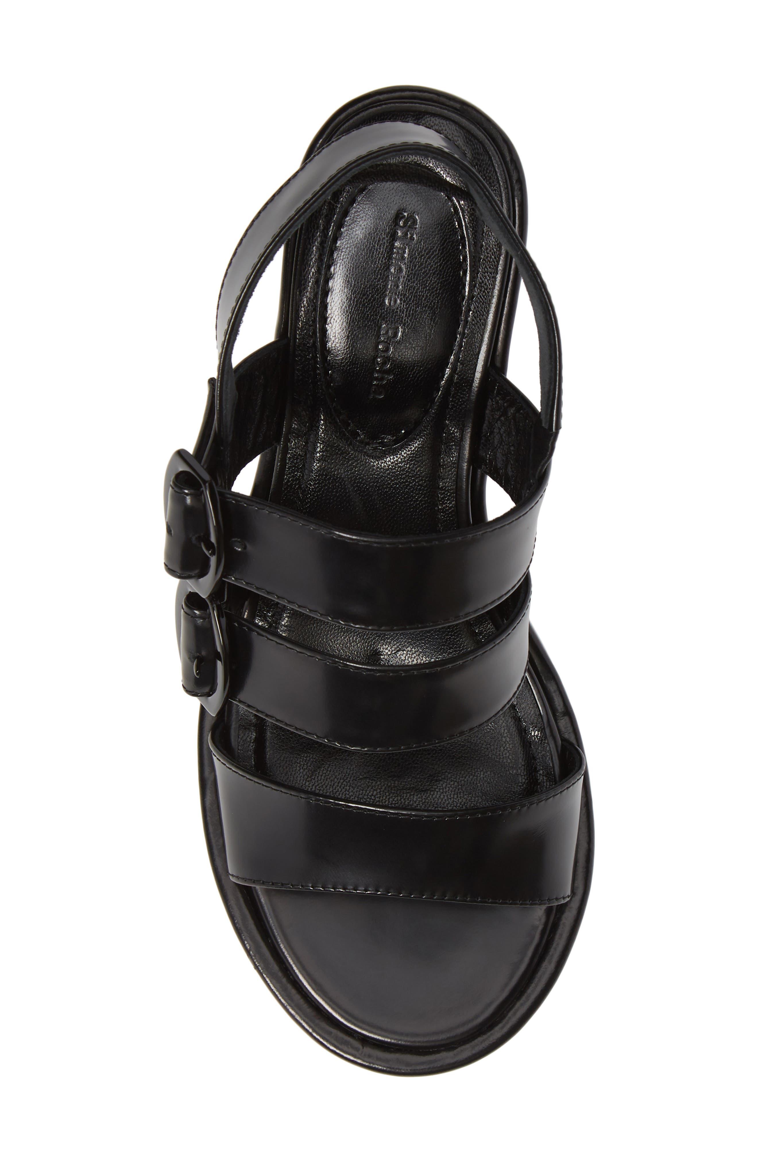 SIMONE ROCHA,                             Strappy Platform Sandal,                             Alternate thumbnail 5, color,                             001