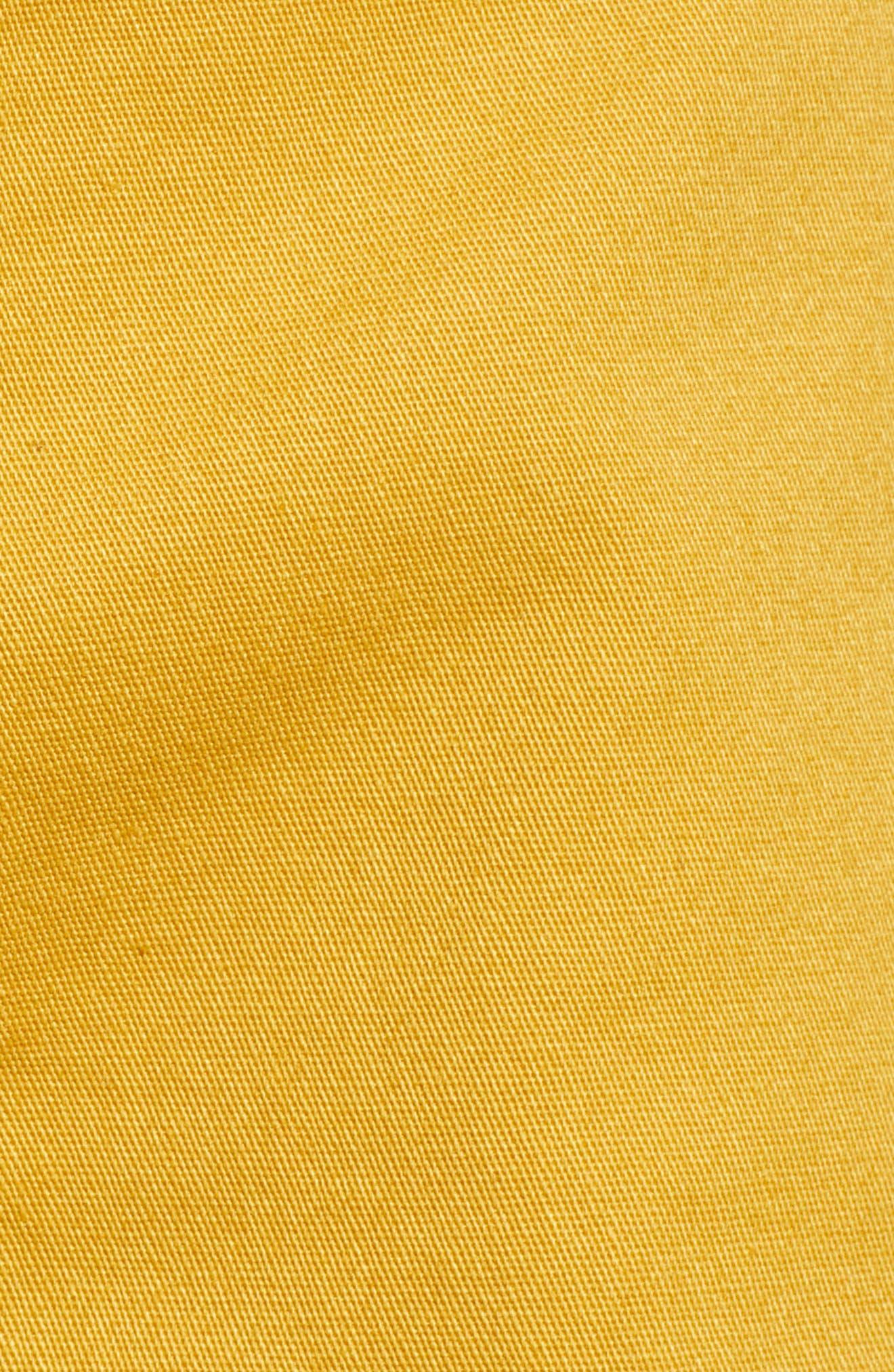 High Waist Sailor Shorts,                             Alternate thumbnail 5, color,                             MUSTARD