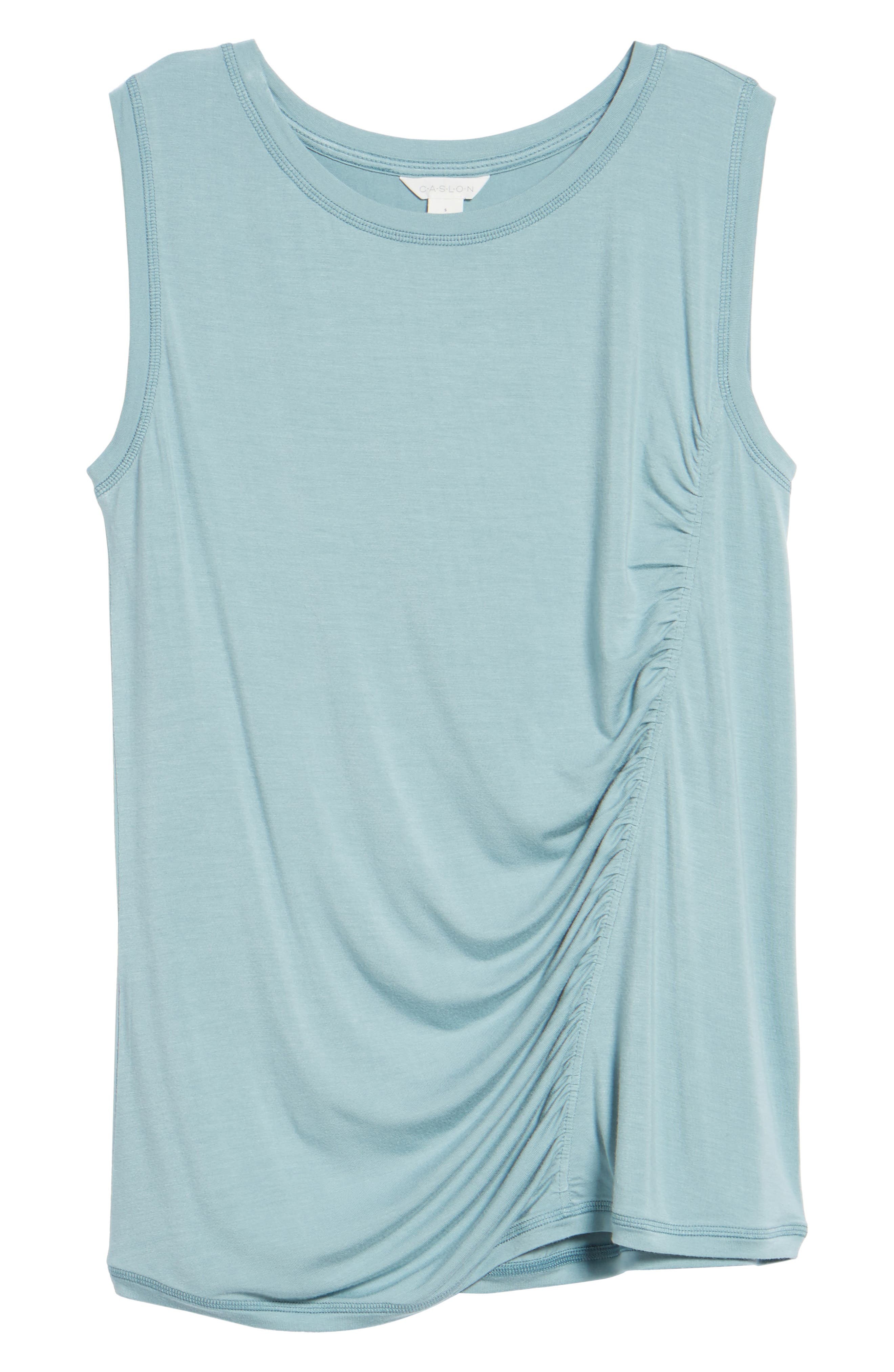 Off-Duty Shirred Sleeveless Tee,                             Alternate thumbnail 29, color,